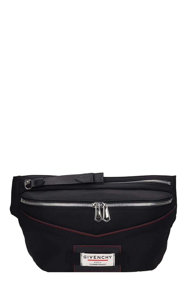 GIVENCHY DOWNTOWN-BUMBAG WAIST BAG IN BLACK TECH/SYNTHETIC