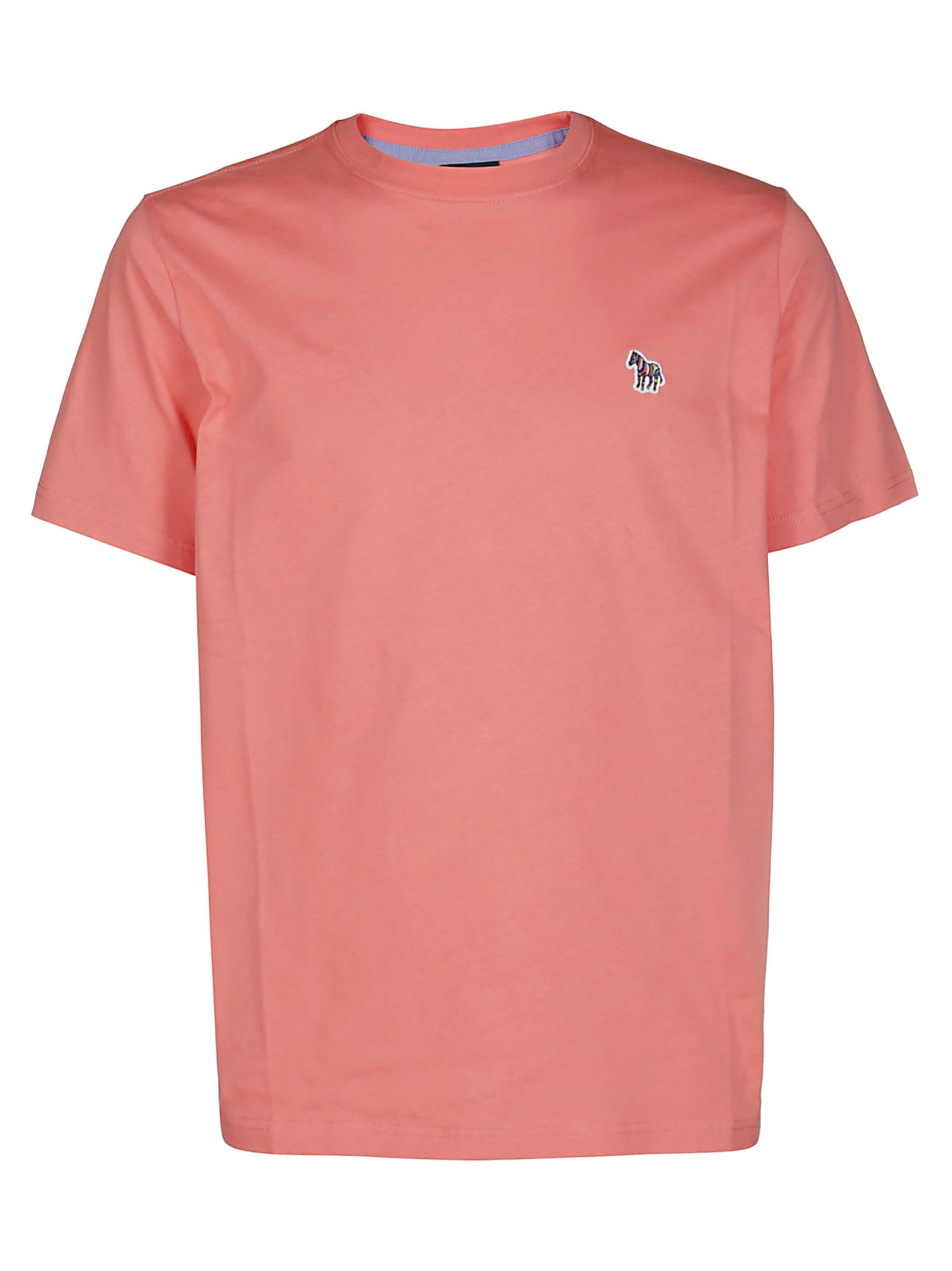 Ps By Paul Smith T-shirts CORAL PINK COTTON T-SHIRT