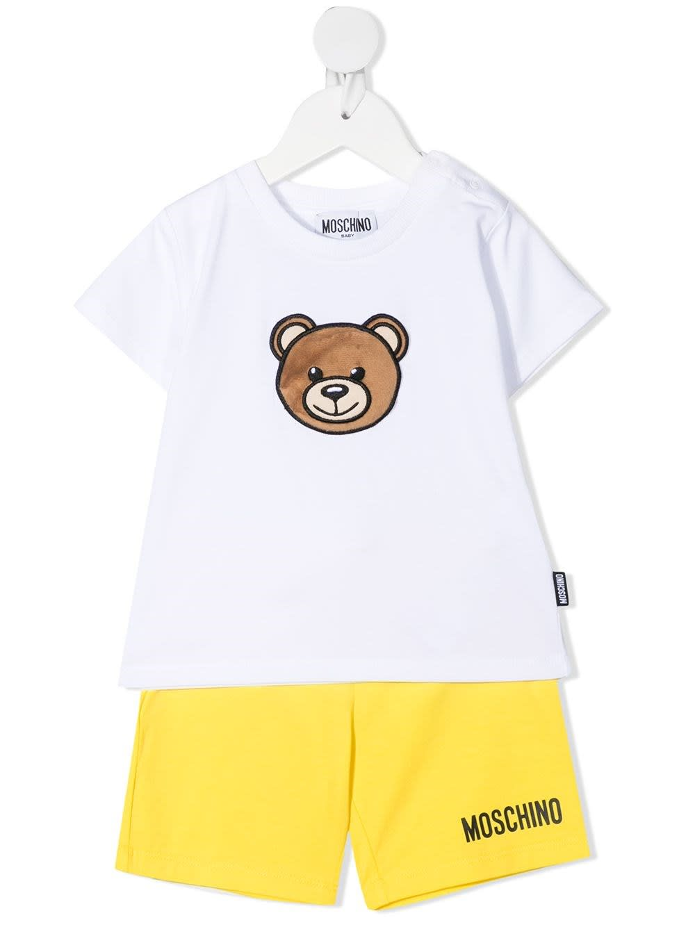 Moschino Cottons BEAR SHORTS T-SHIRT AND SHORTS SUIT