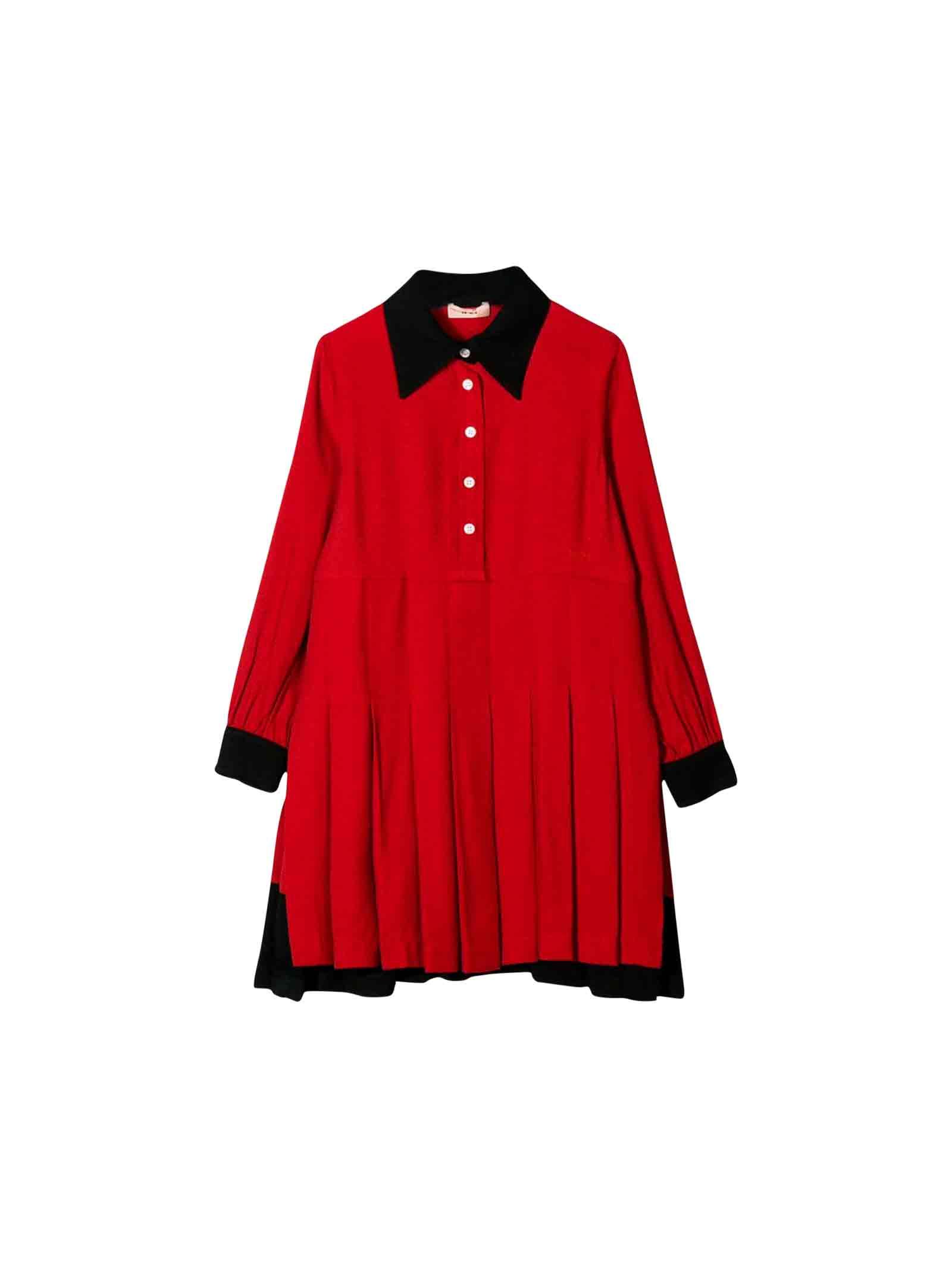 N.21 Little Girls Red Dress No. 21 Kids