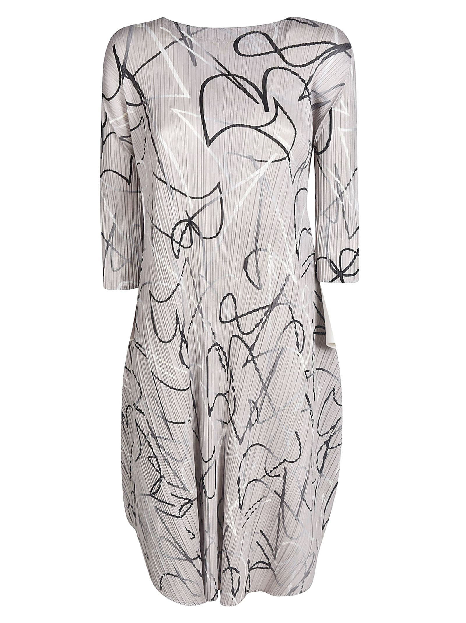 Pleats Please Issey Miyake PLEATED PRINTED DRESS