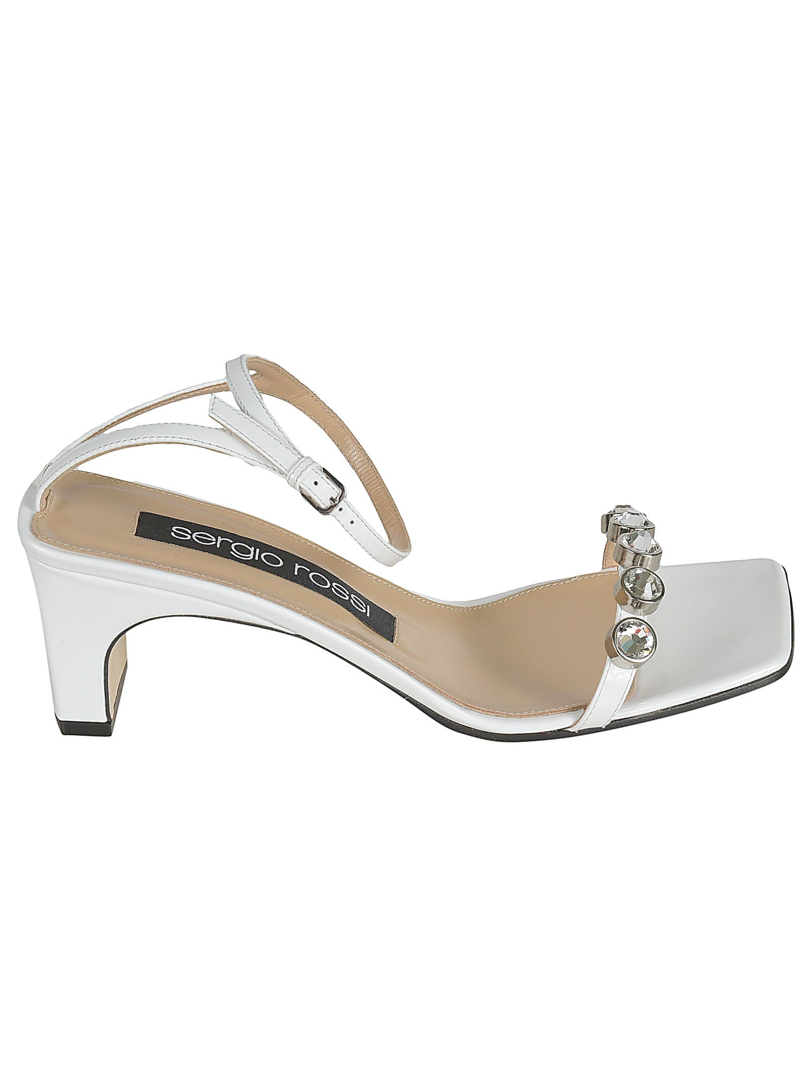 Buy Sergio Rossi Crystal Embellished Sandals online, shop Sergio Rossi shoes with free shipping