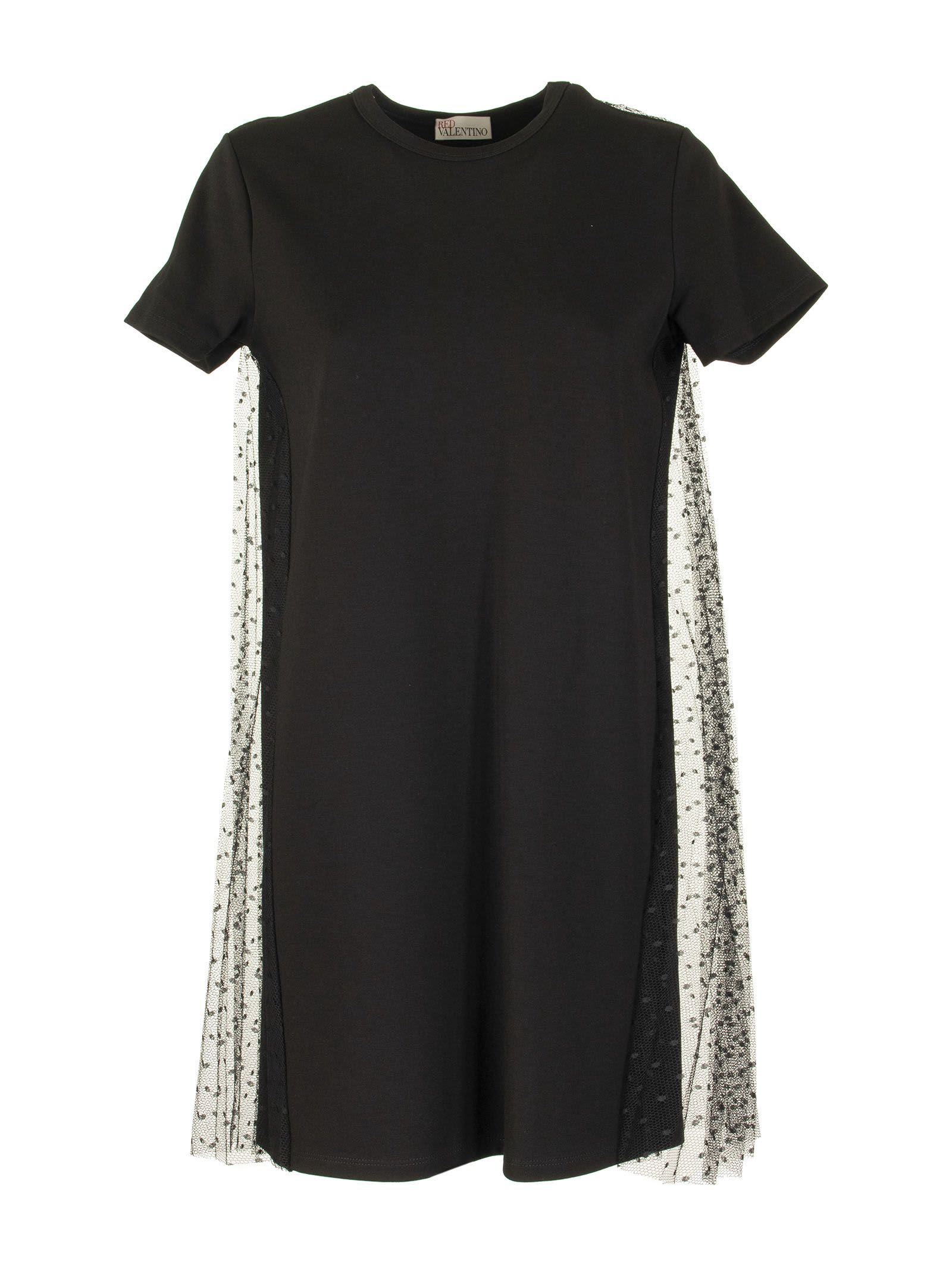 Buy RED Valentino Jersey Dress And Point Desprit Tulle online, shop RED Valentino with free shipping