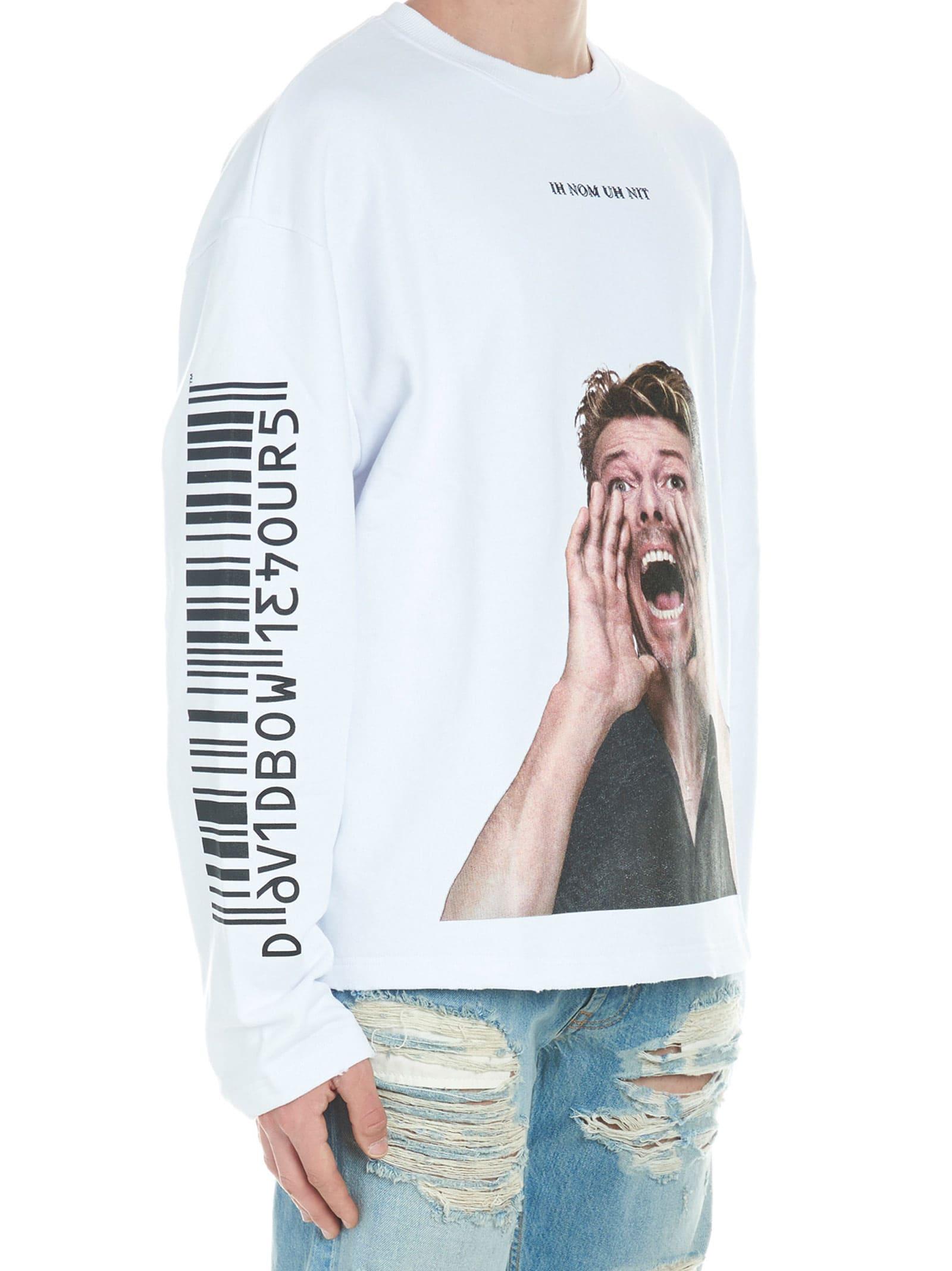 High Quality Ih Nom Uh Nit 'bowie Scream' Sweatshirt - Top