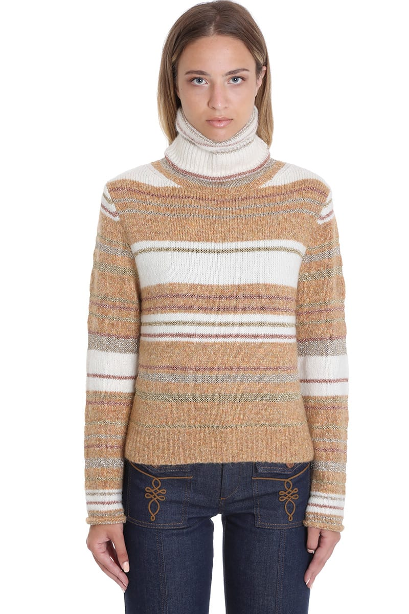 See by Chloé Knitwear In Beige Wool