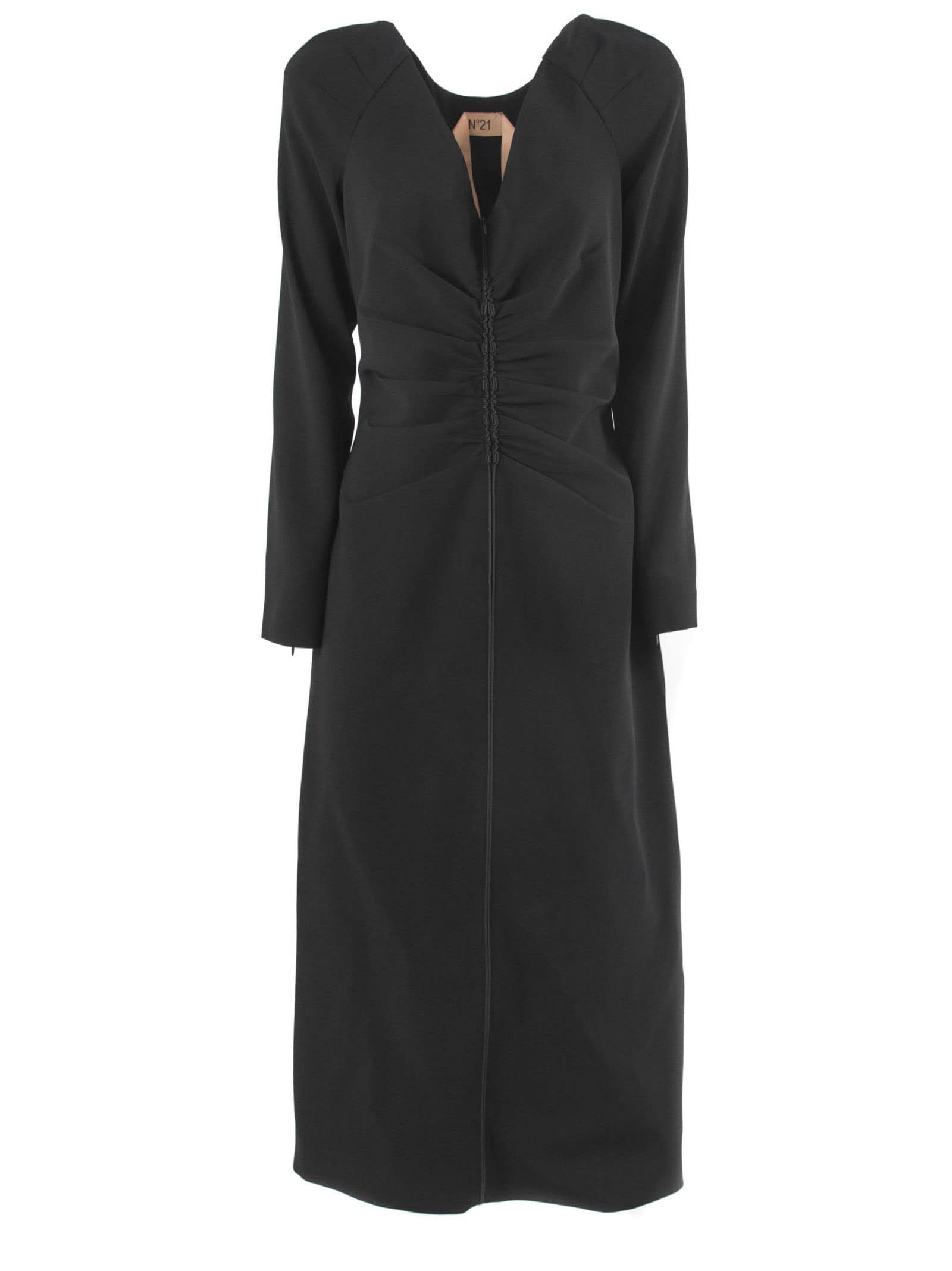 N.21 Long Dress In Black Fabric