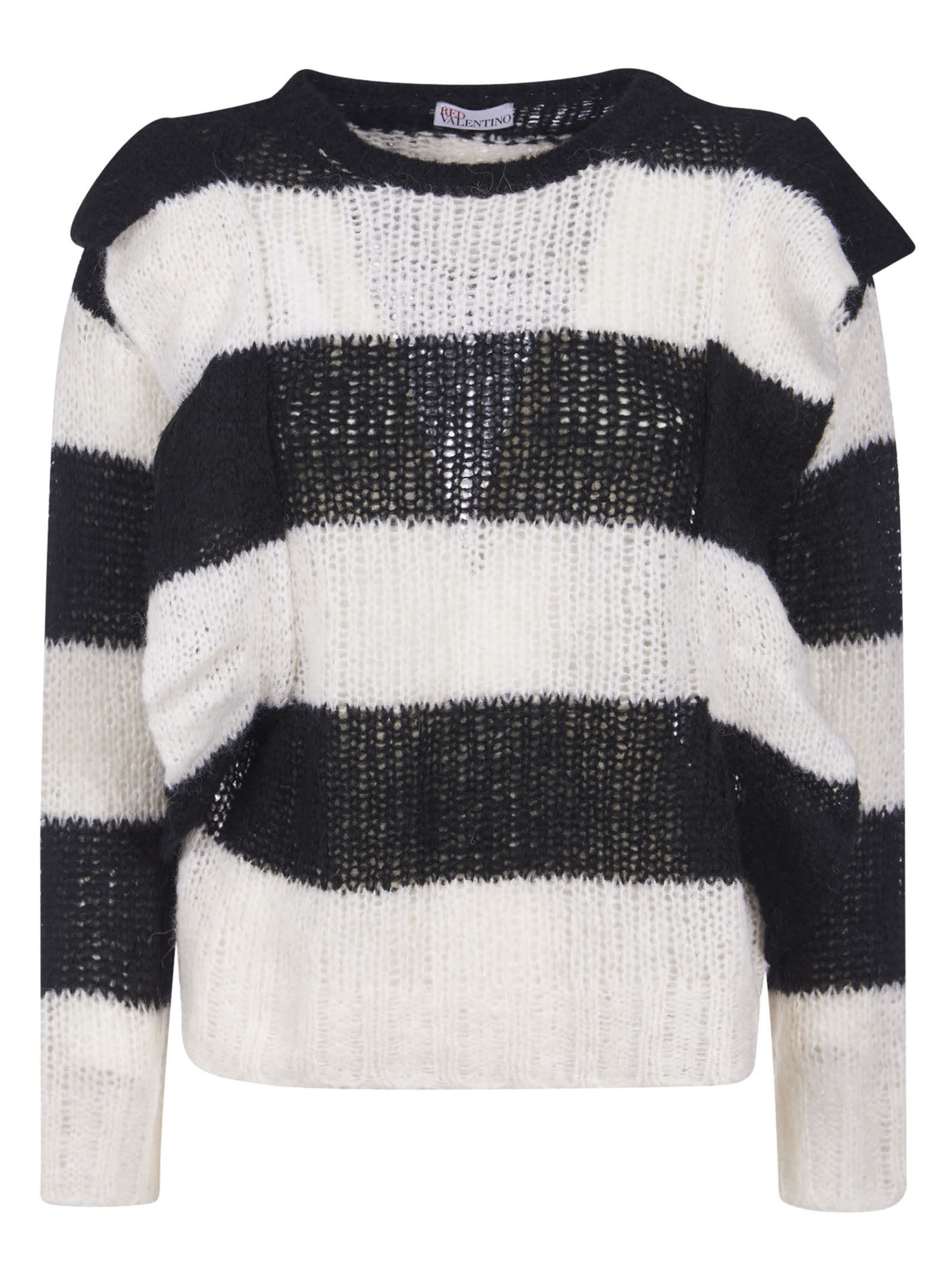 Striped Woven Sweater from RED ValentinoComposition: 38% Acrylic, 38% Alpaca, 14% Polyamide, 10% Wool