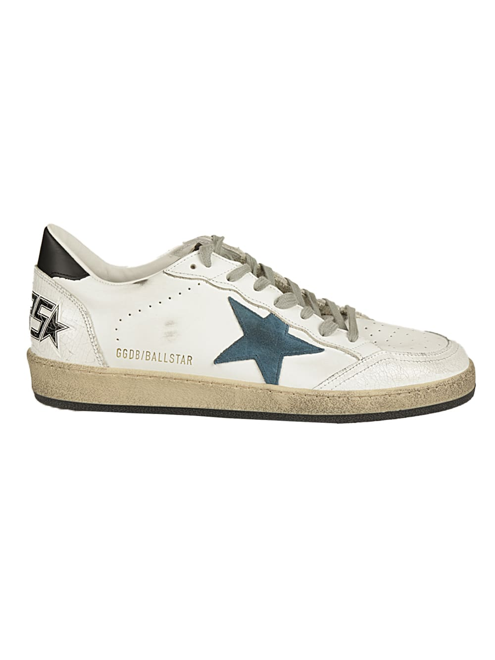 Golden Goose Leathers BALLSTAR CRACK TOE LEATHER QUARTER SUEDE STAR