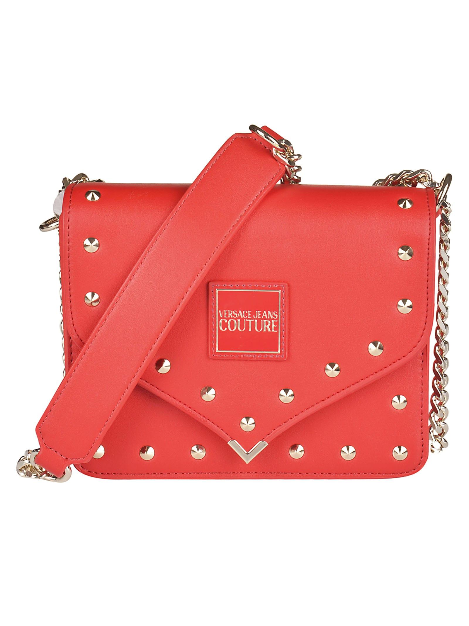 Versace Jeans Couture Versace Jeans Couture Studded Shoulder Bag Rosso 11185285 Italist