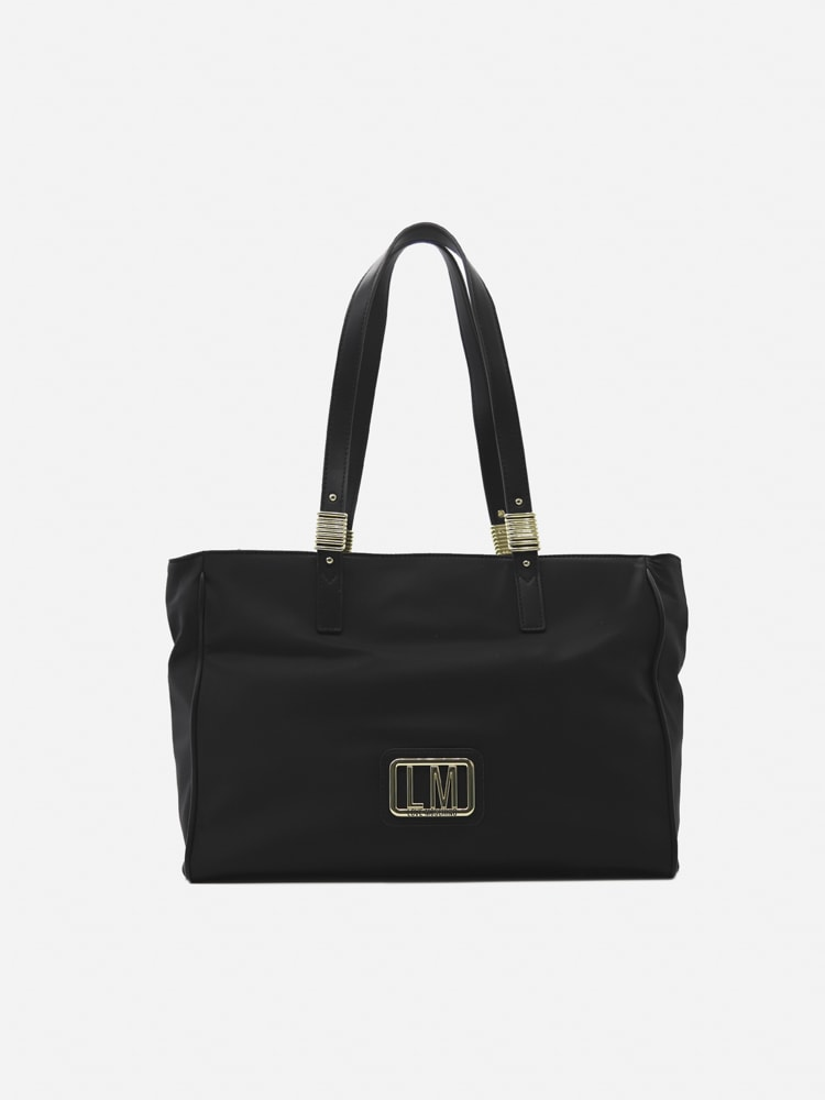 Love Moschino Nylon Bag With Logo Lettering In Black