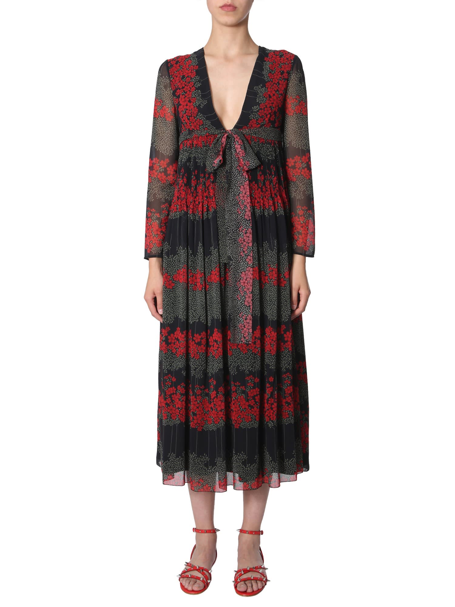 RED Valentino Dreaming Peony Print Dress