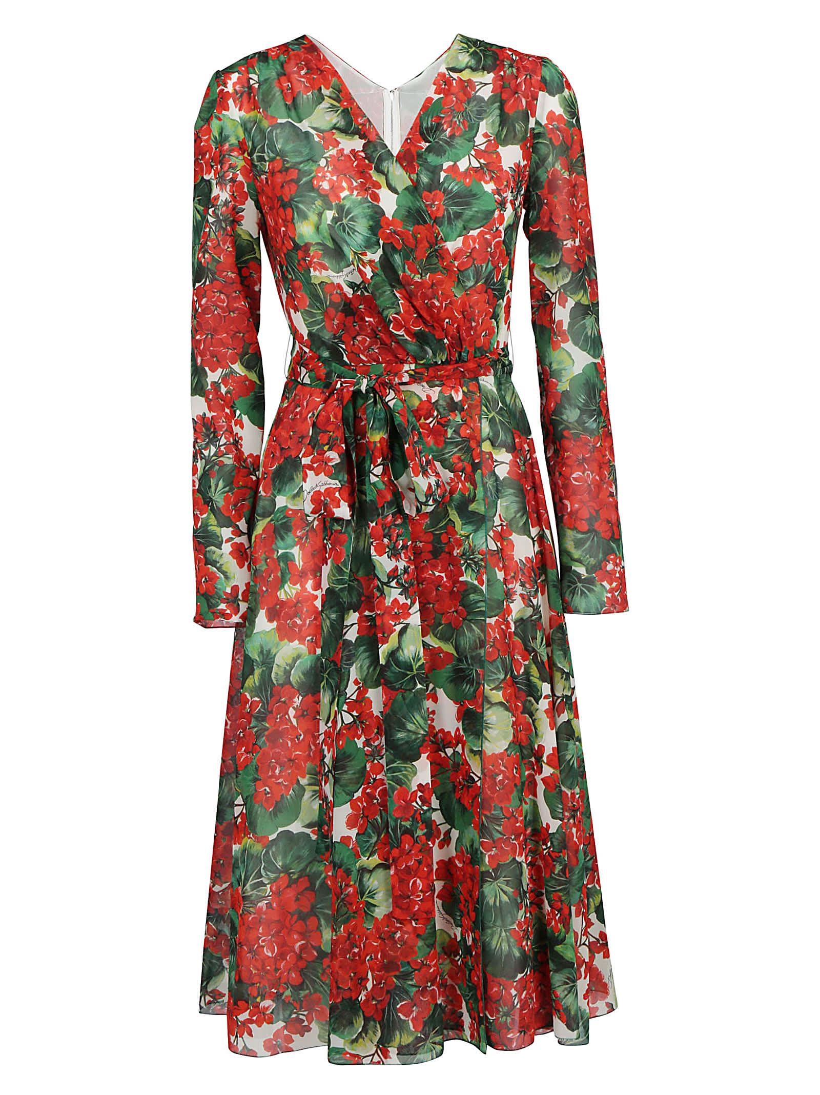 Dolce & Gabbana Georgette Midi Dress