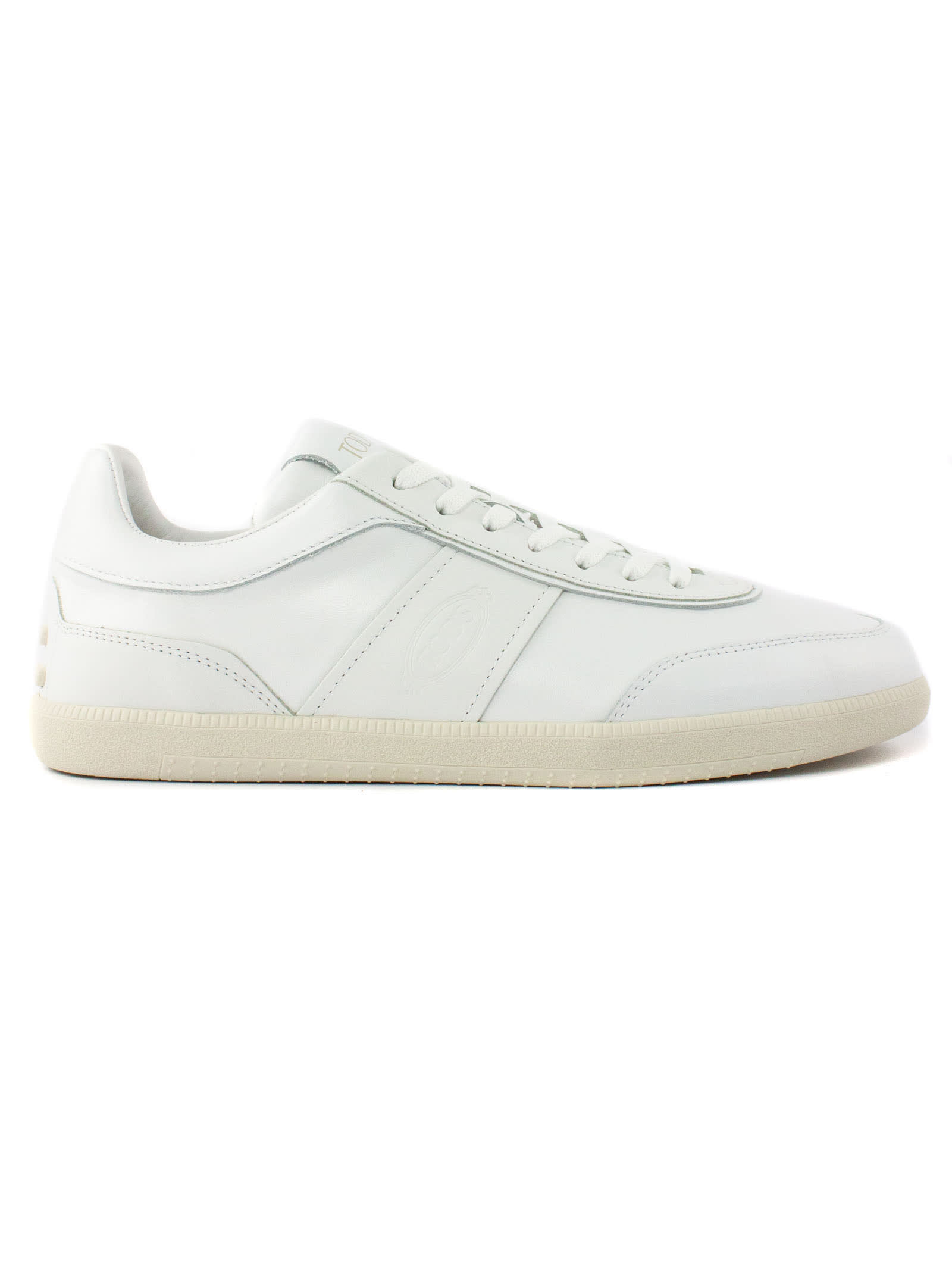 Tod's SNEAKERS IN WHITE LEATHER
