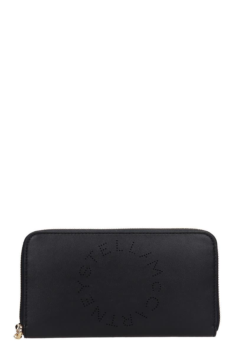 Stella McCartney Wallet In Black Faux Leather