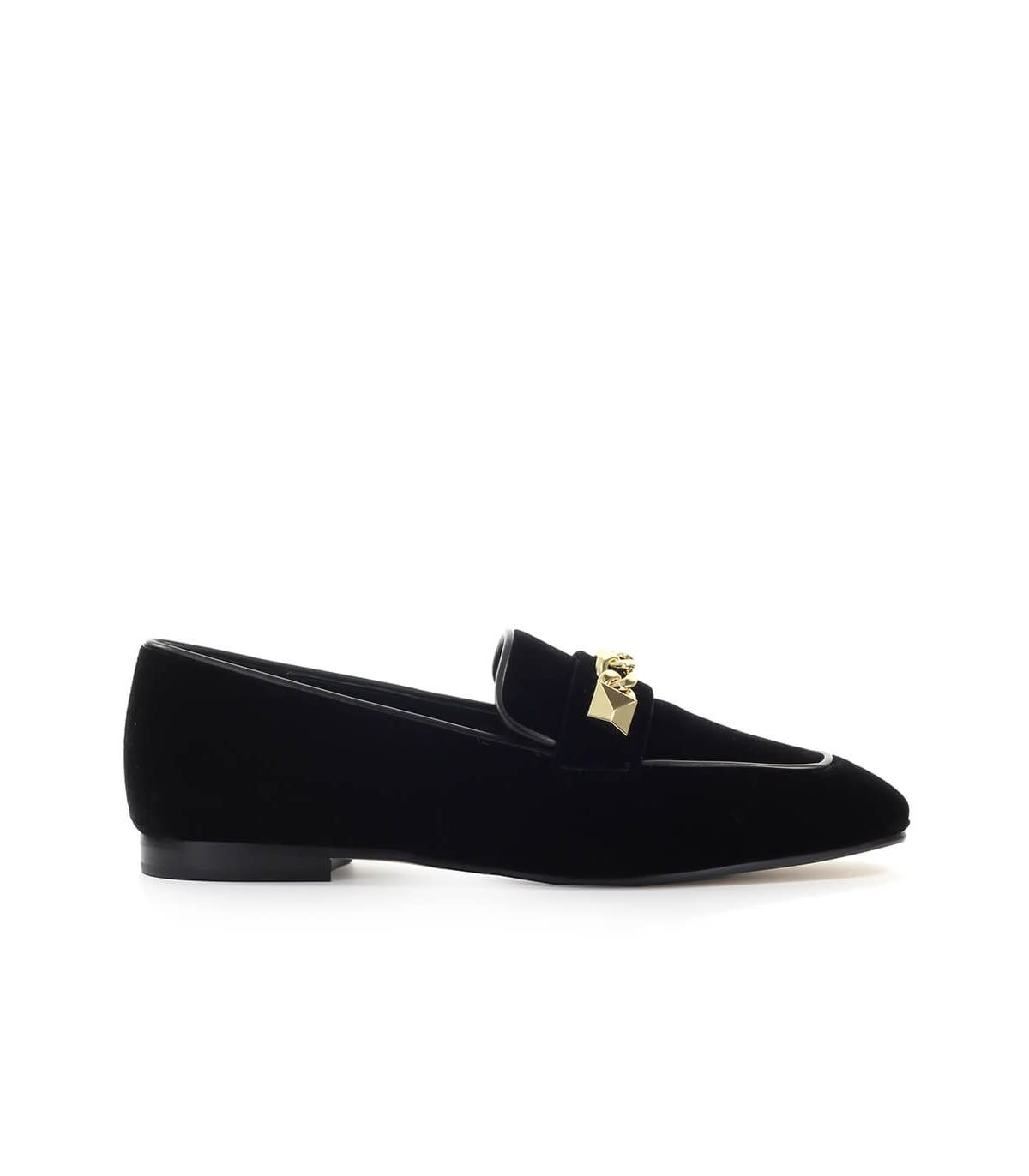 Photo of Michael Kors Galloway Balck Velvet Loafer - shop Michael Kors clothing 100% sales