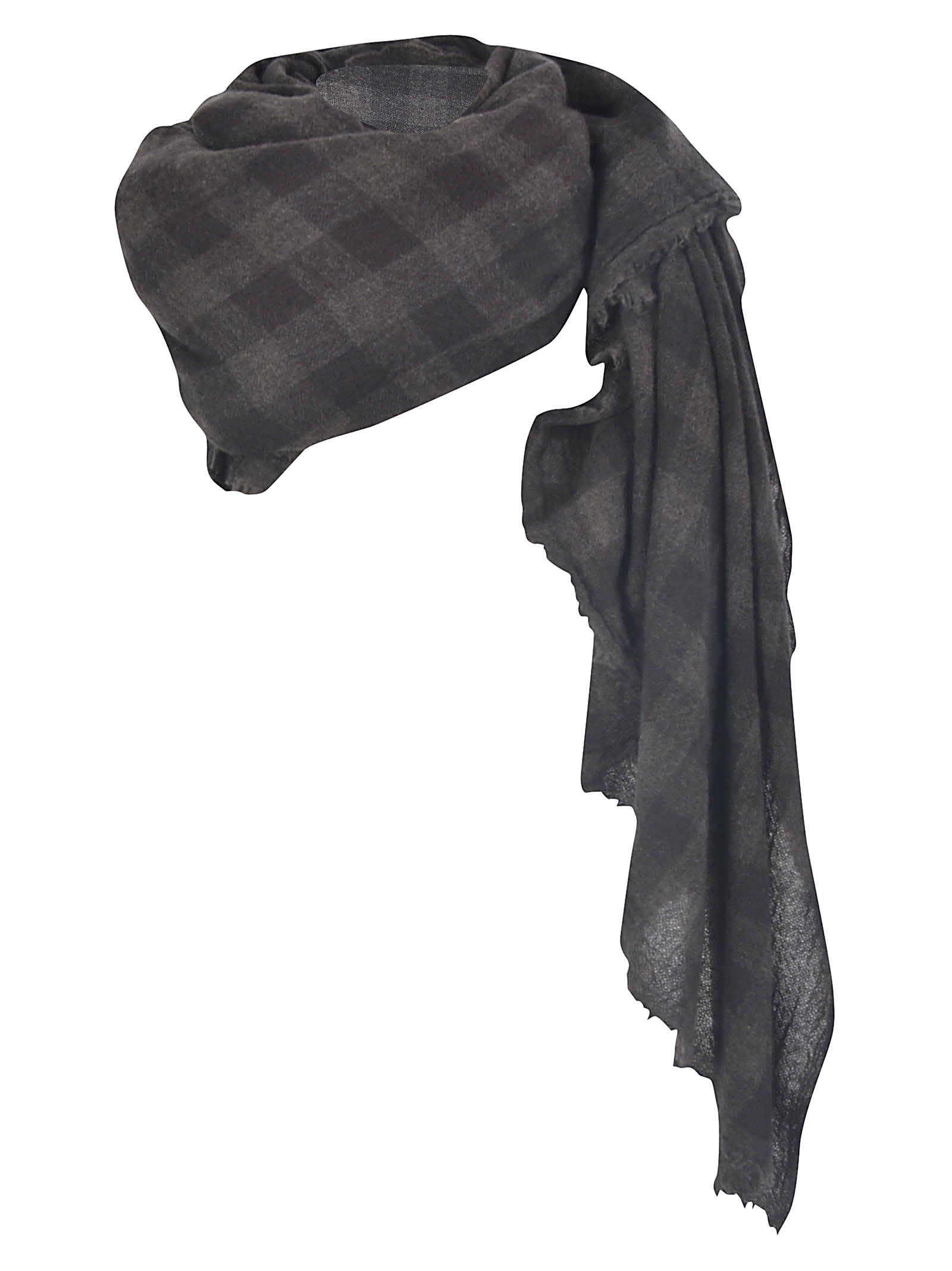 A Punto B FRINGED CHECK SCARF