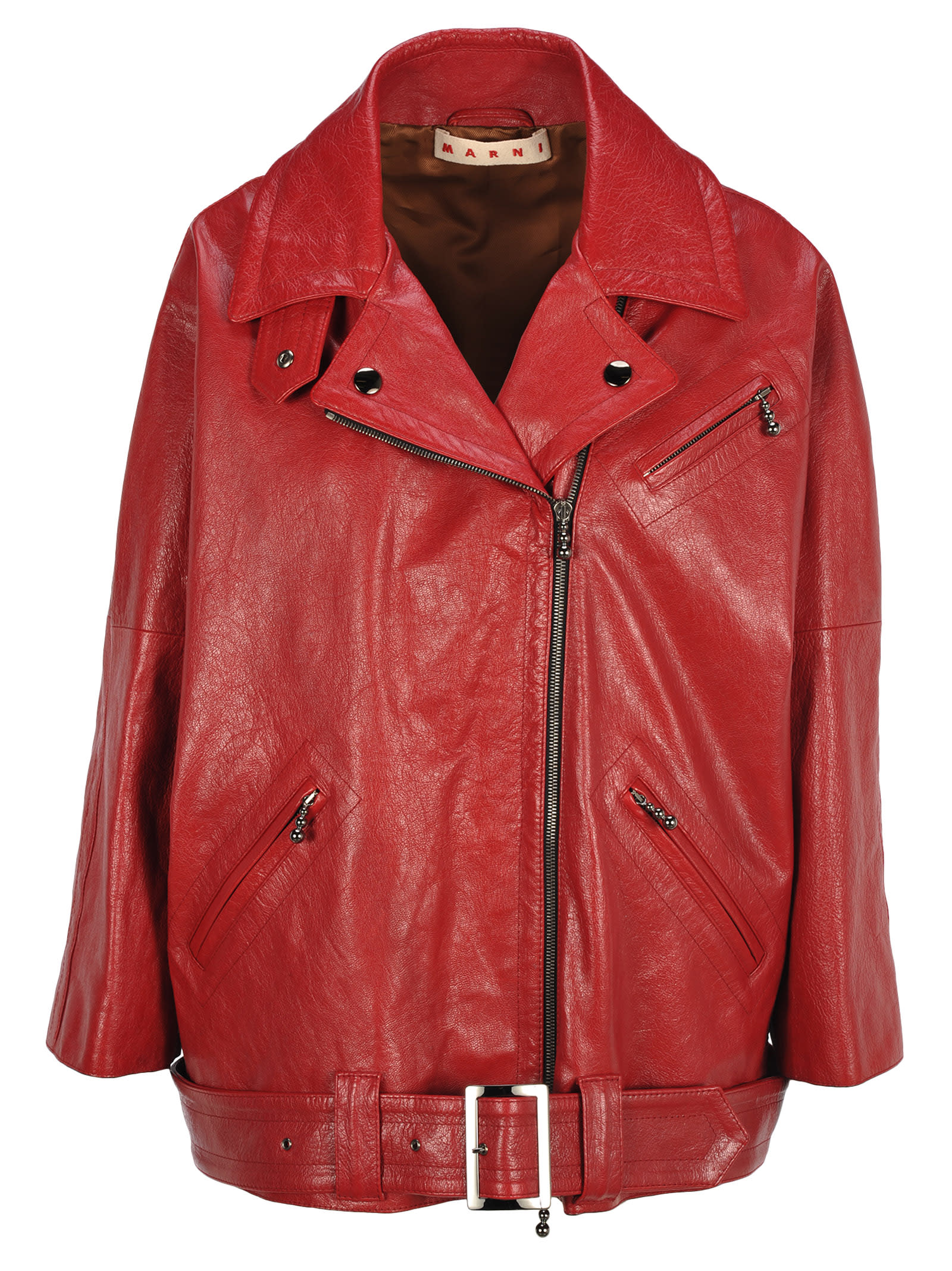 Marni Marni Leather Biker Jacket