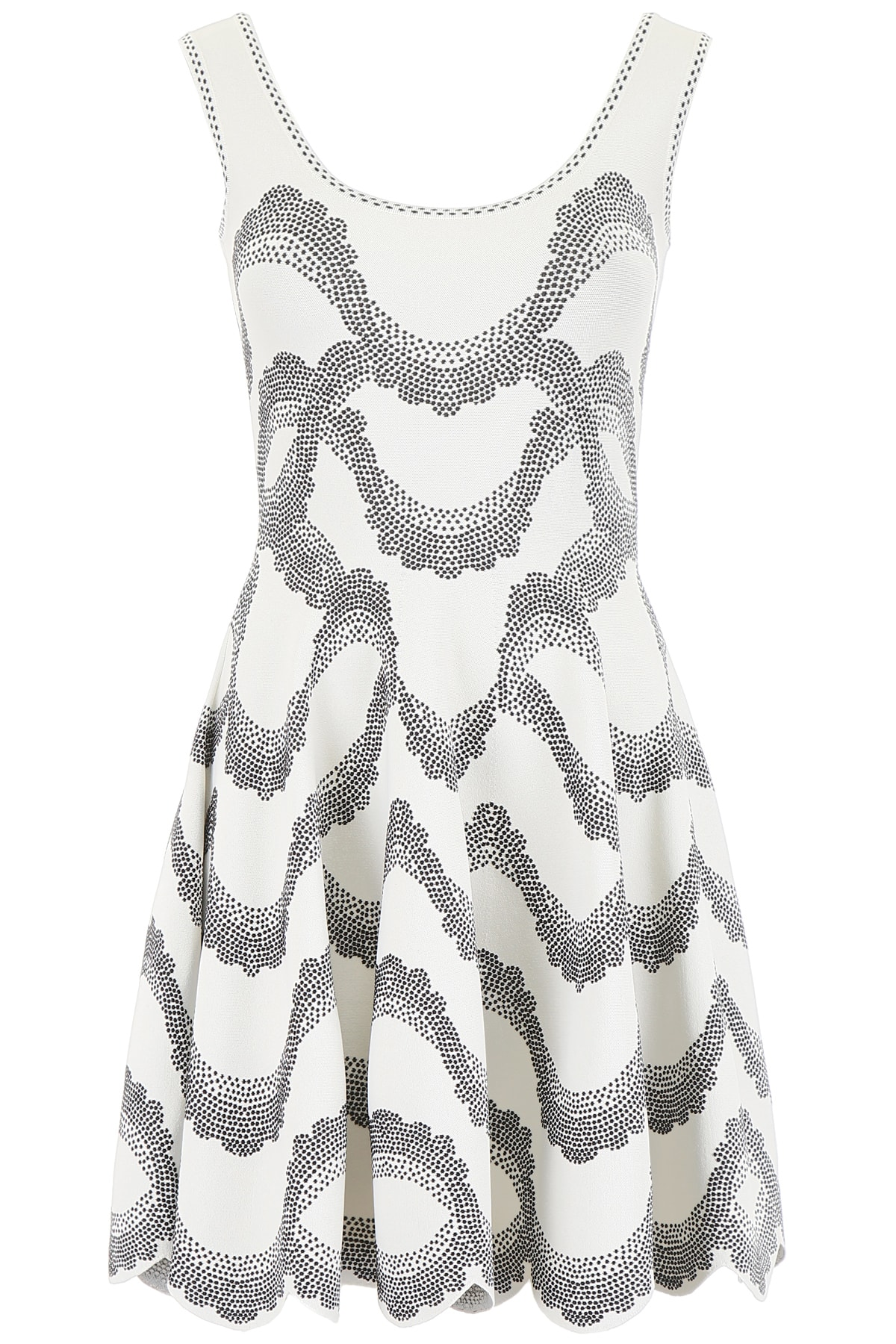 Buy Alexander McQueen Jacquard Mini Dress online, shop Alexander McQueen with free shipping
