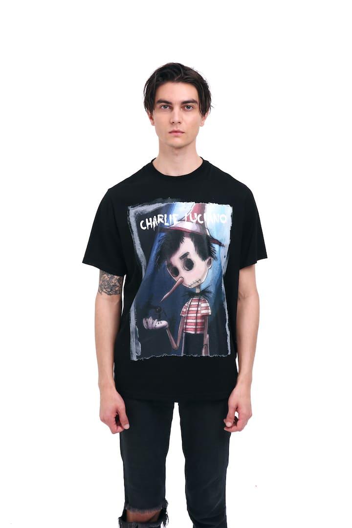 Charlie Luciano Pinocchio Unisex Print T-Shirt