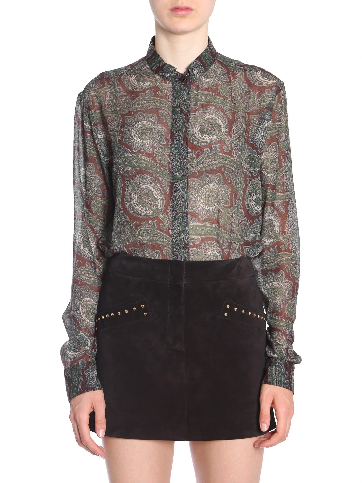 Saint Laurent Band Collar Shirt
