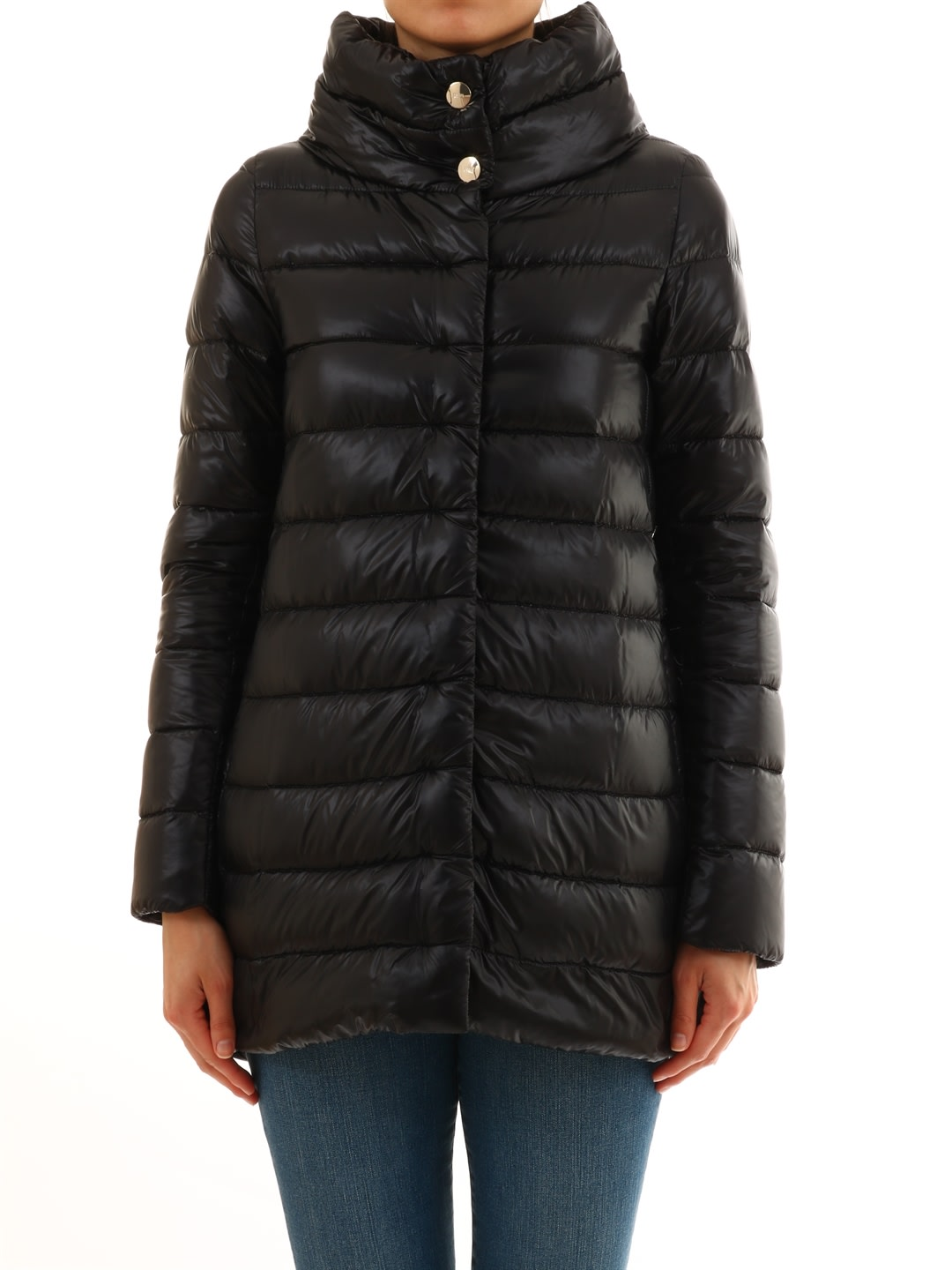 Herno Black Nylon Down Amelia Jacket