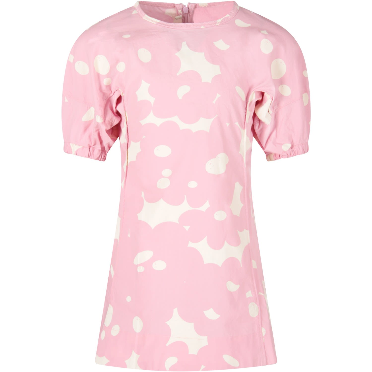 Buy Marni Pink Girl Dress With Ivory Spots online, shop Marni with free shipping