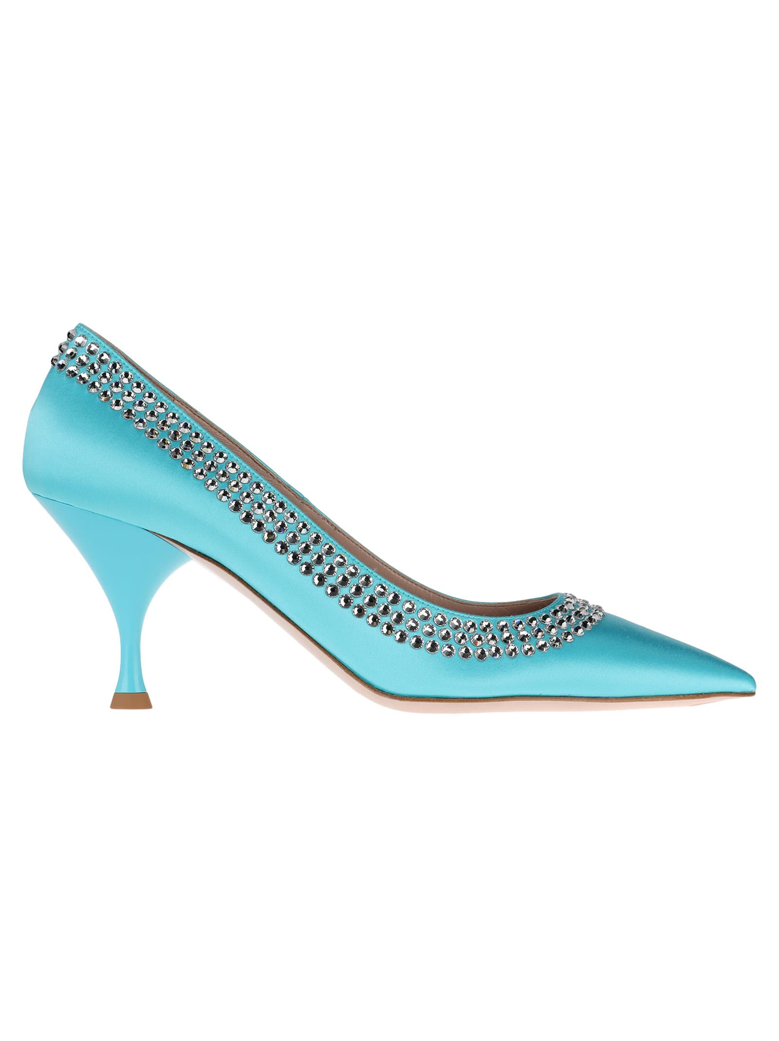 Miu Miu Crystal Embellished Pumps