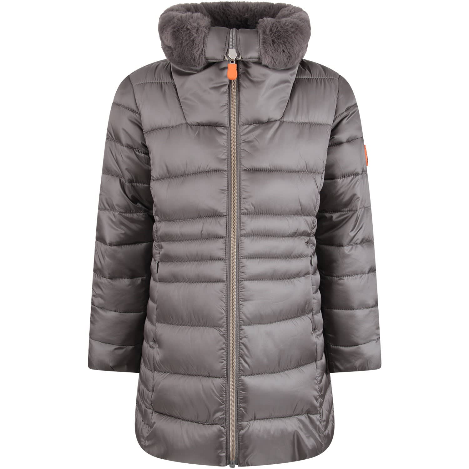 quality design 036ea 277fb Best price on the market at italist | Save the Duck Save the Duck Grey Girl  Jacket With Iconic Logo
