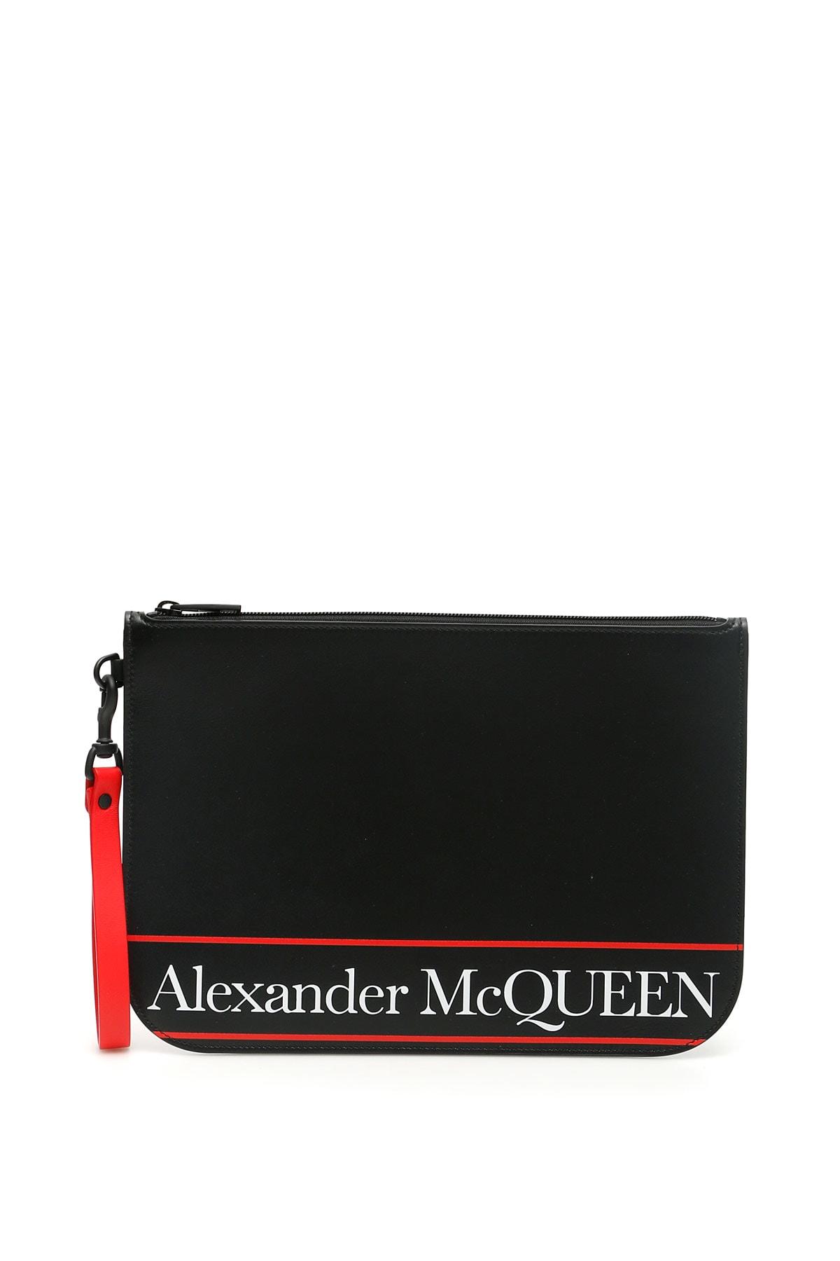 Alexander Mcqueen Pouches SELVEDGE LOGO POUCH