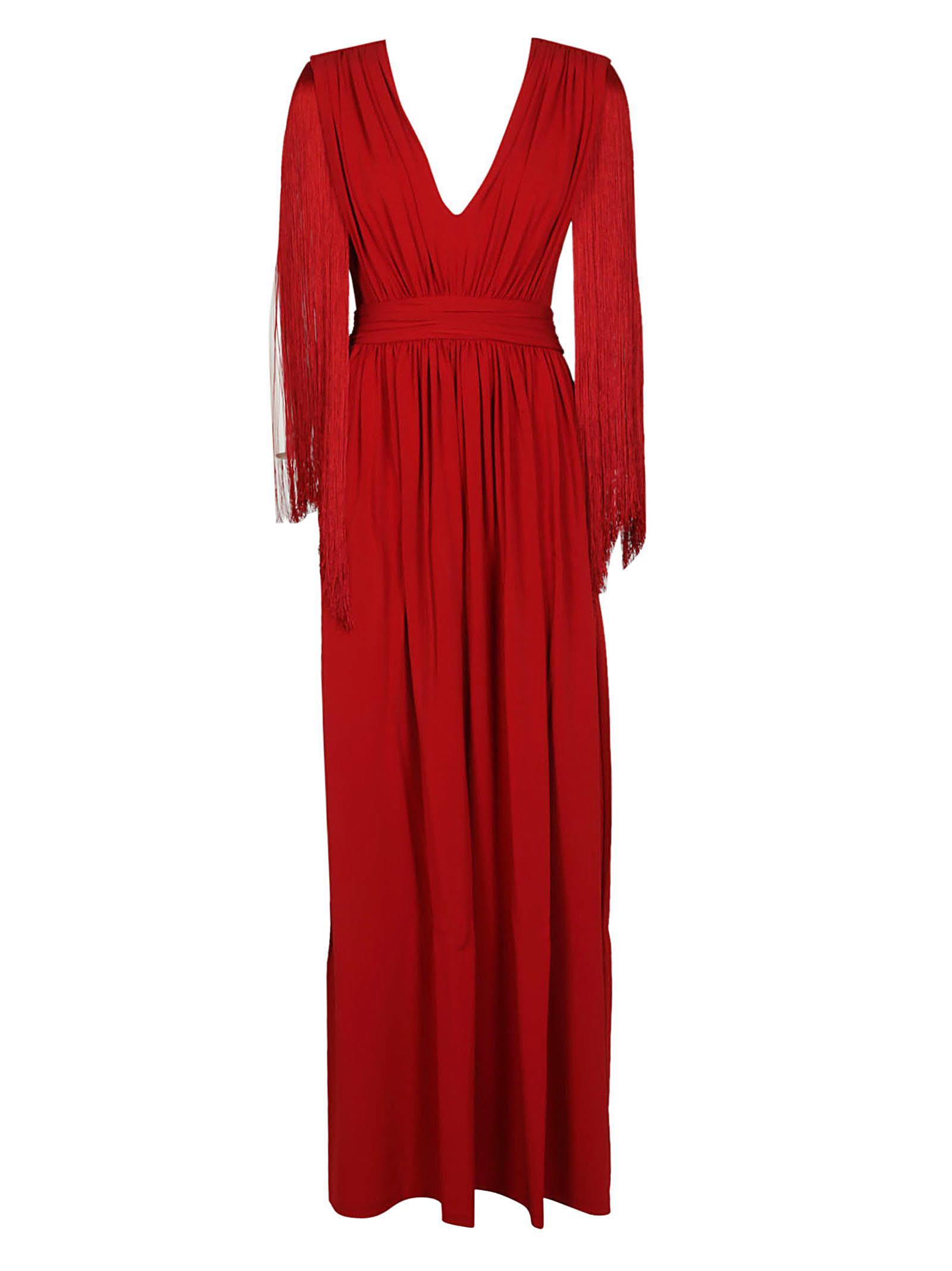 Buy Alberta Ferretti Alberta Ferretti Side Slit Dress online, shop Alberta Ferretti with free shipping