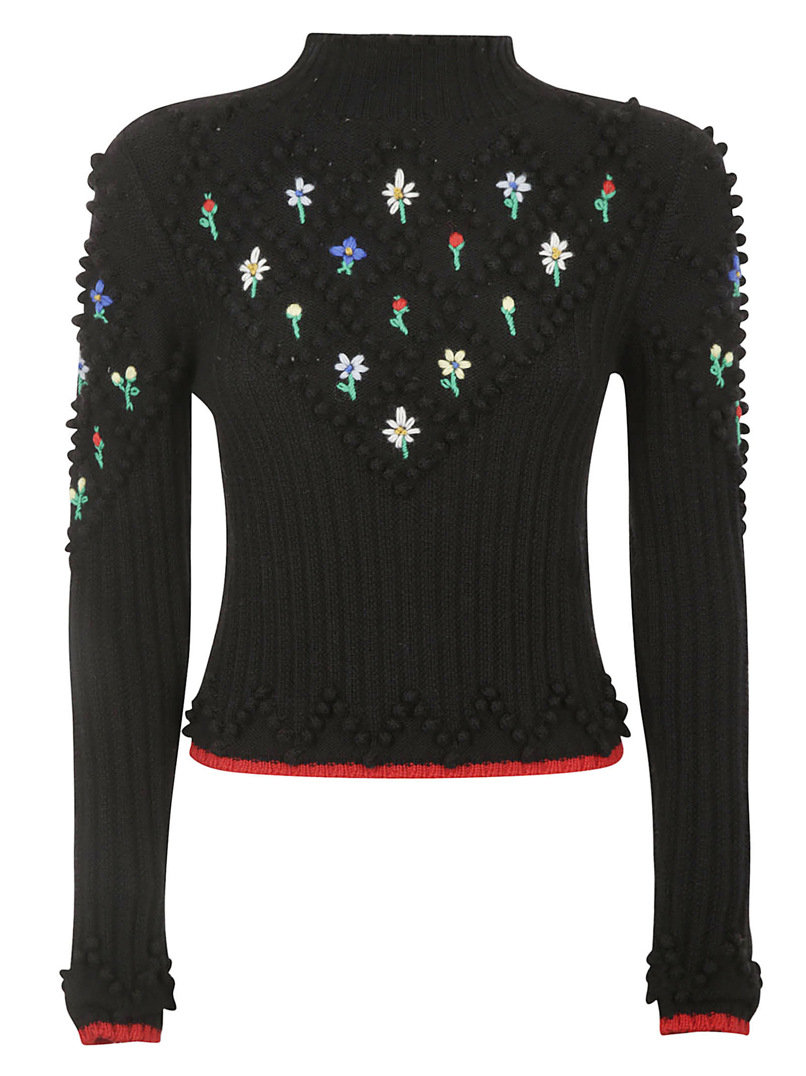Philosophy di Lorenzo Serafini Patterned Floral Embroidered Sweater