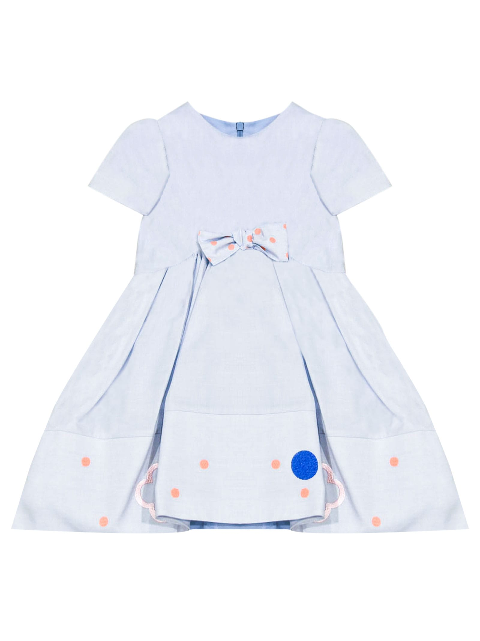 Buy Simonetta Light Blue Dress With Bow online, shop Simonetta with free shipping