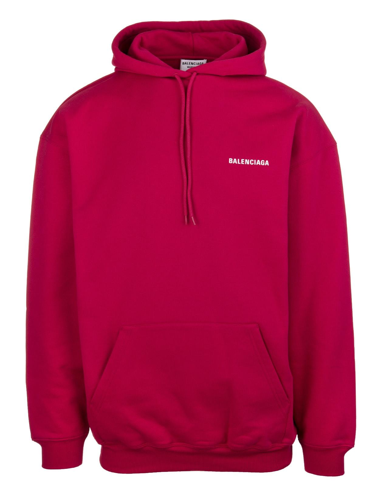 Unisex Red Balenciaga Wide Line Hoodie