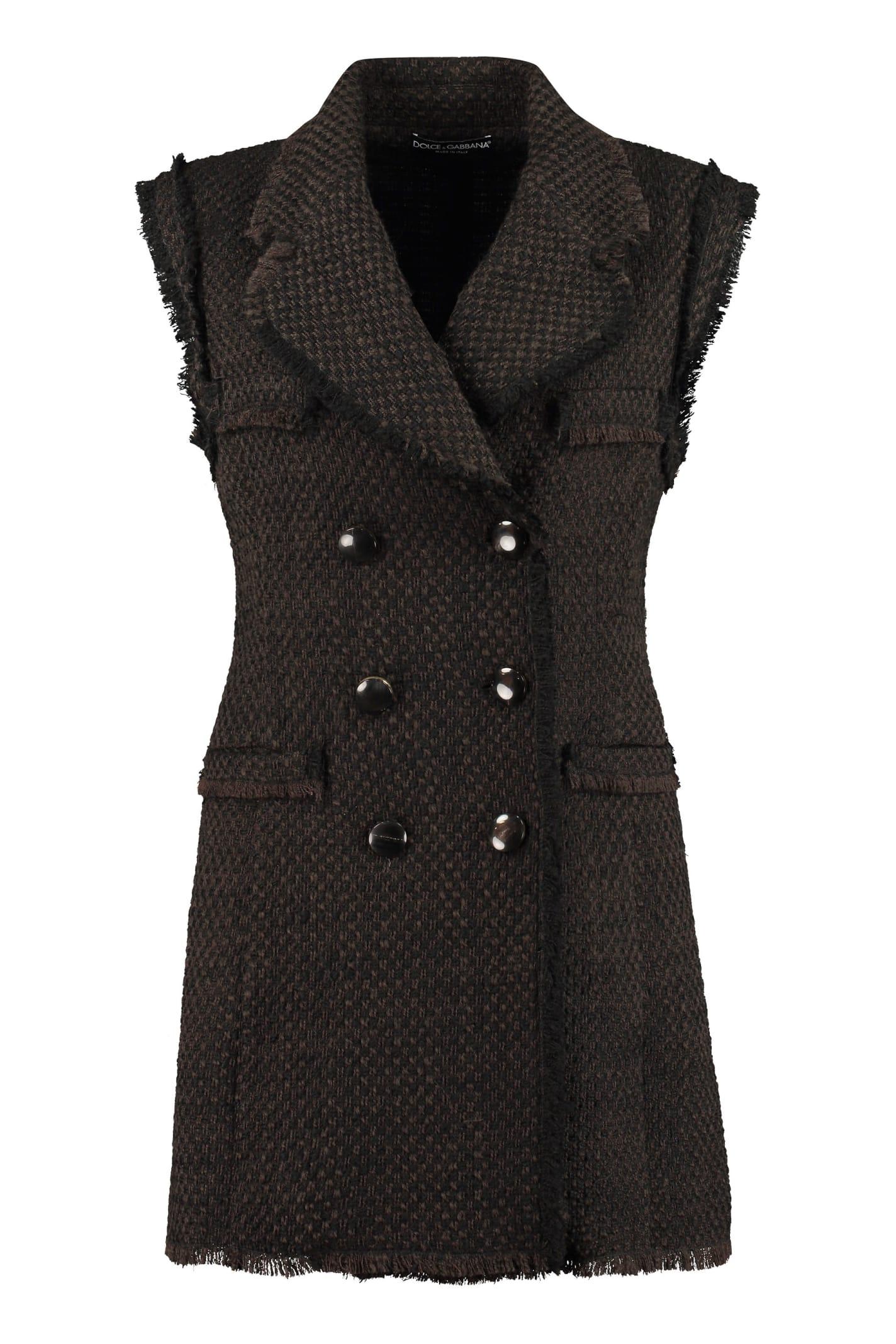 Dolce & Gabbana Wool Blend Waistcoat