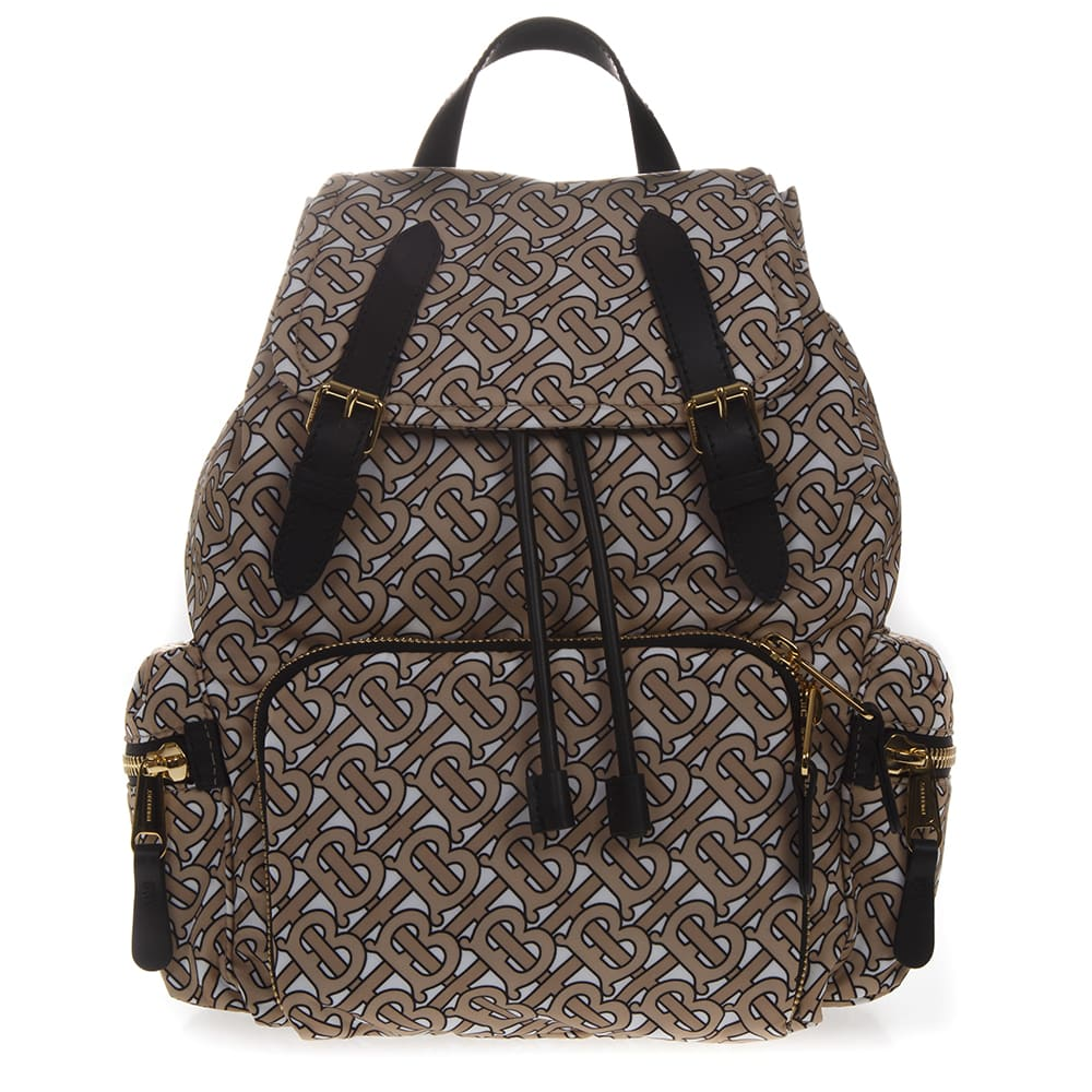 Burberry The Rucksack Medium Backpack With Monogram Print