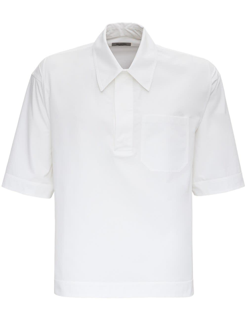 Valentino White Jersey Short Sleeves Shirt