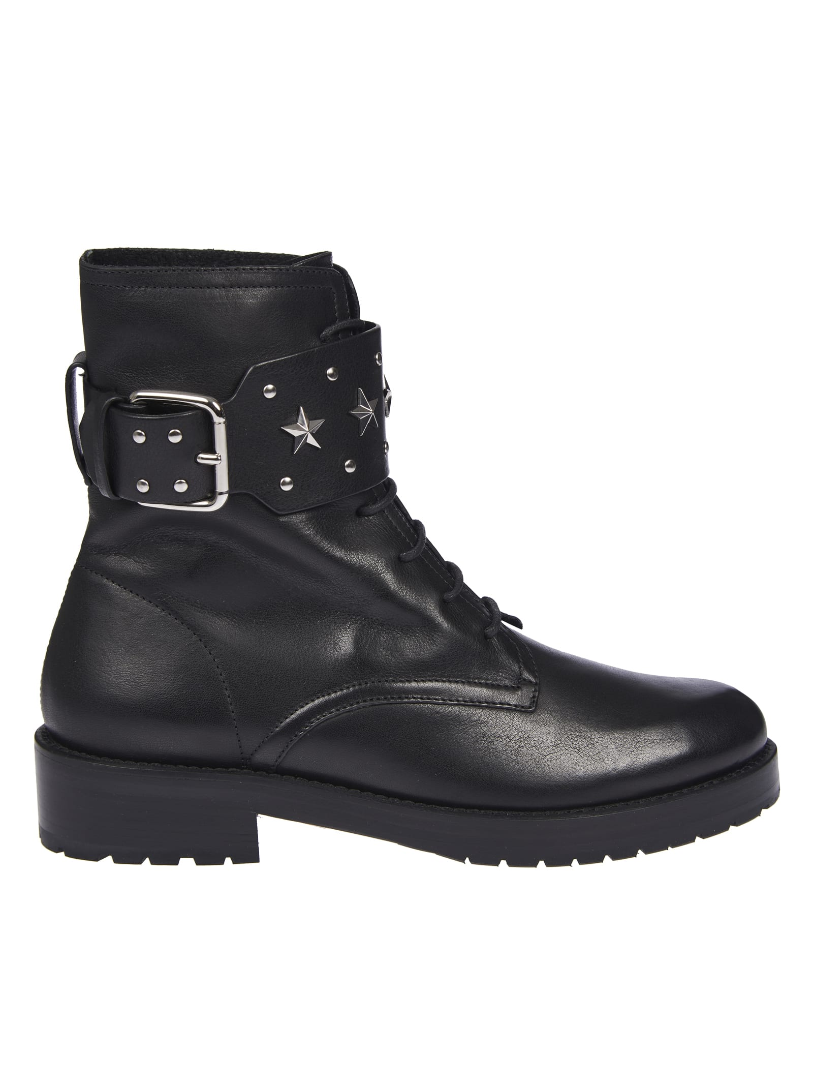 Buy RED Valentino Studded Side Buckle Lace-up Boots online, shop RED Valentino shoes with free shipping