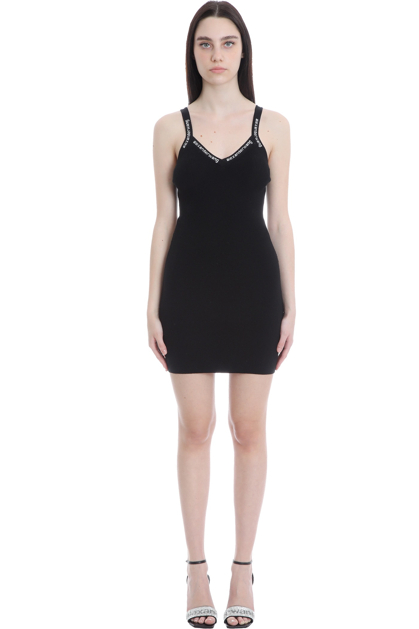 Buy Alexander Wang Dress In Black Synthetic Fibers online, shop Alexander Wang with free shipping