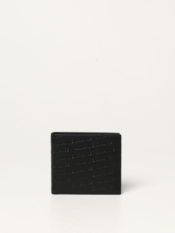 Armani Exchange Wallet Armani Exchange Leather Wallet With All Over Logo