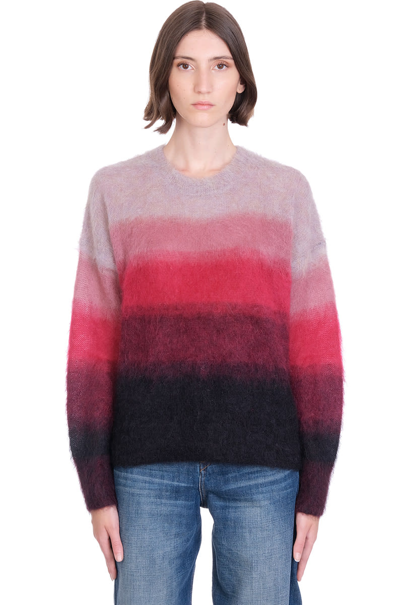 ETOILE ISABEL MARANT DRUSSELL KNITWEAR IN BORDEAUX WOOL