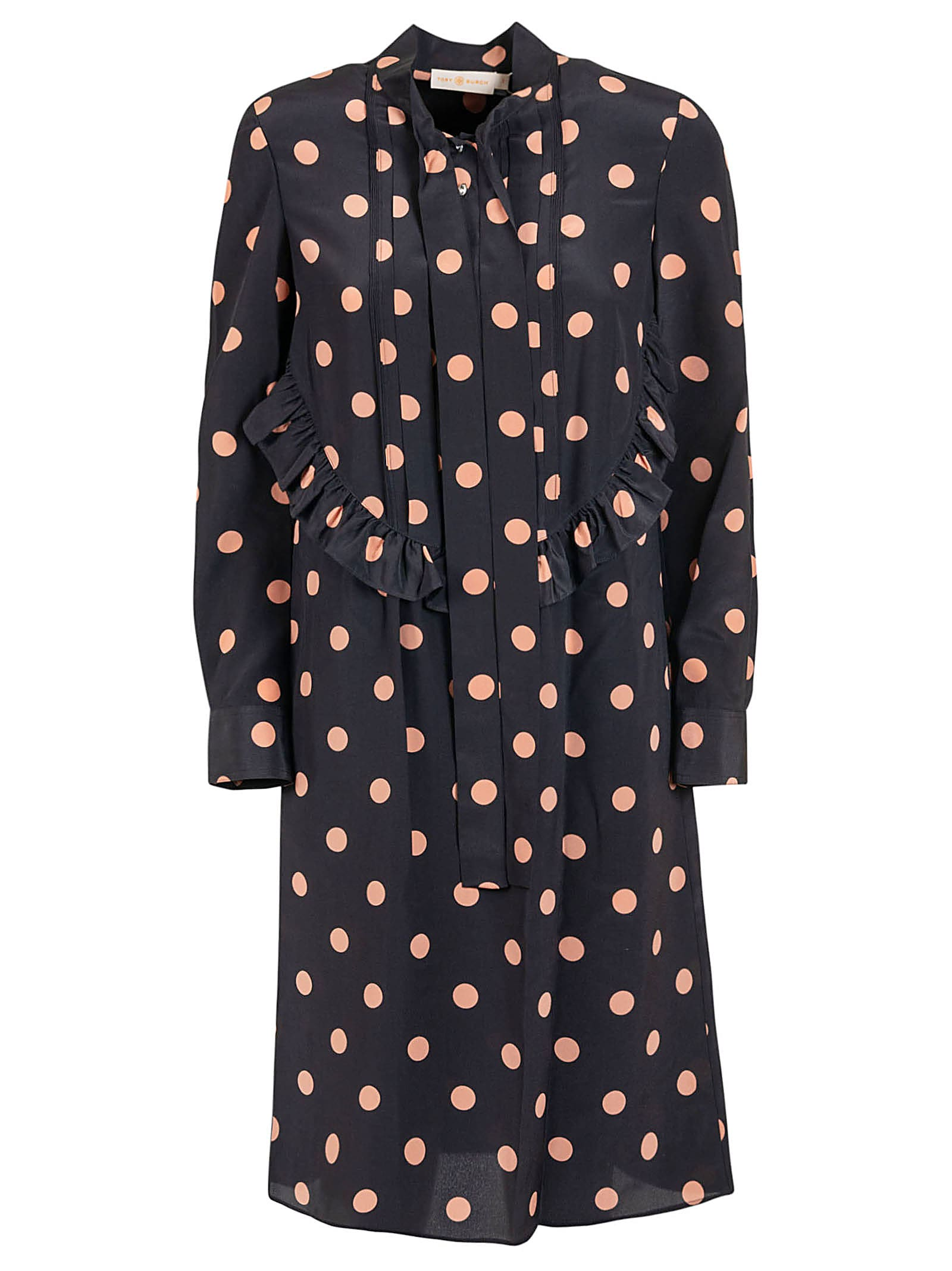 Tory Burch Printed Ruffled Bow Dress