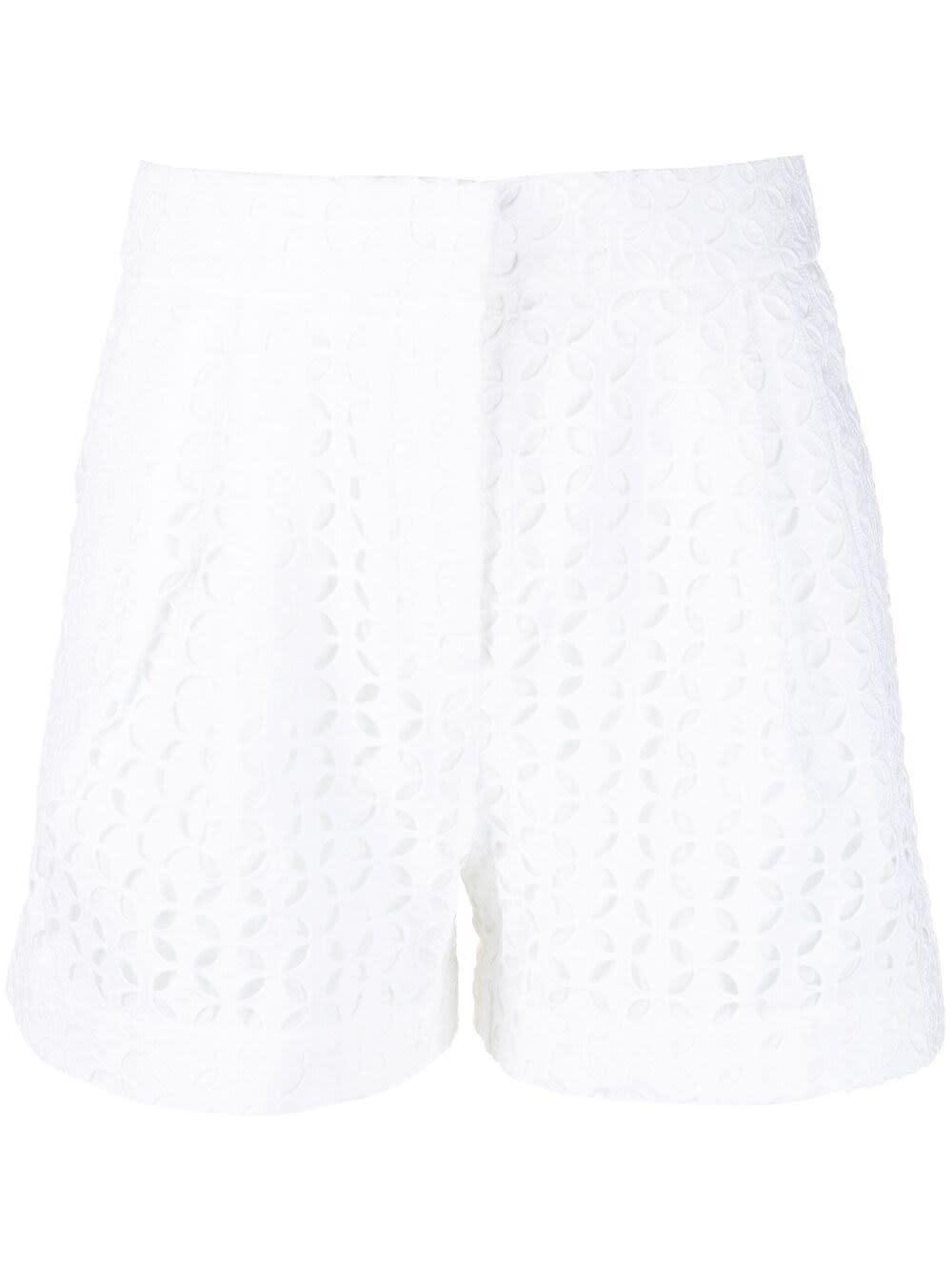 Michael Michael Kors Skirts WHITE COTTON PERFORATED EYELET SHORTS