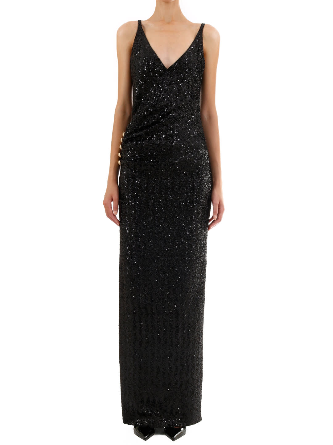 Balmain Sequins Long Dress