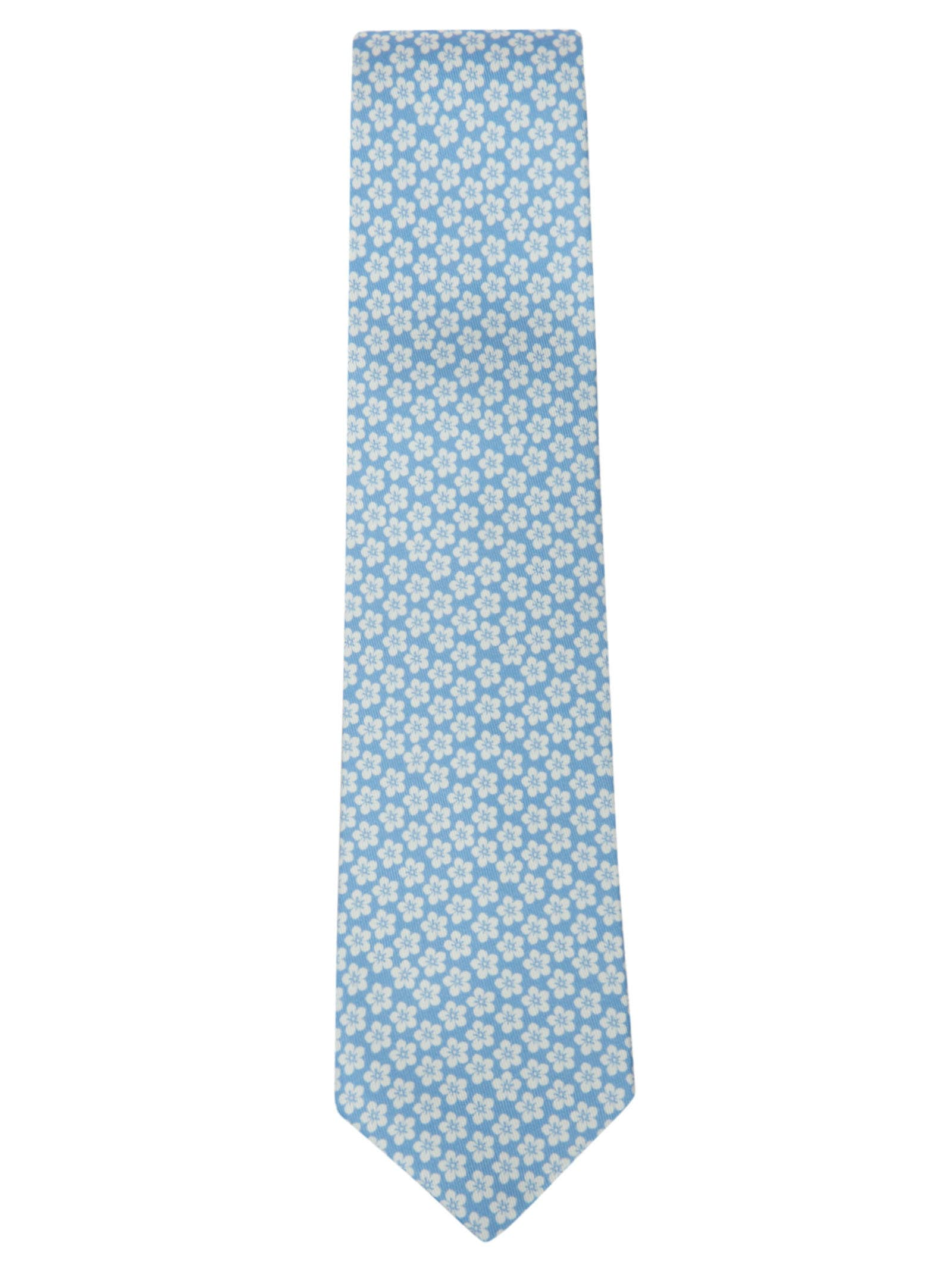 Floral Motif Print Neck Tie