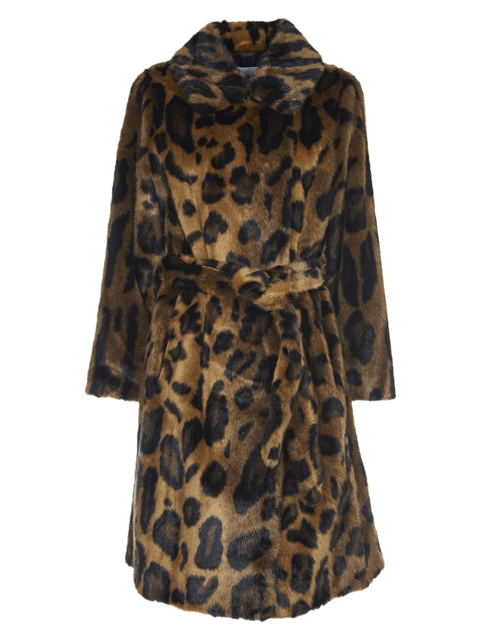 STAND STUDIO irina Leopard Print Coat