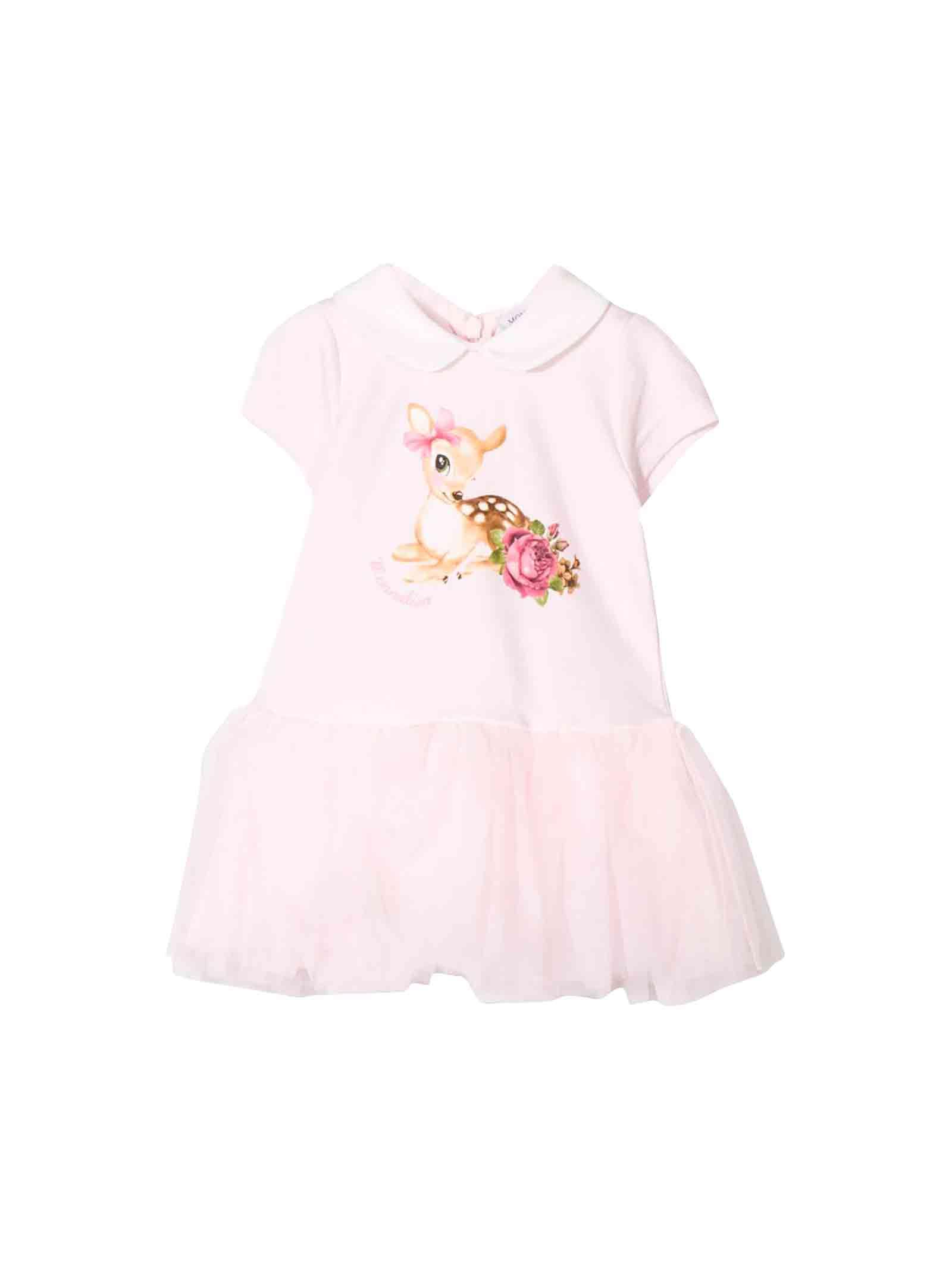Monnalisa Pink Newborn Dress