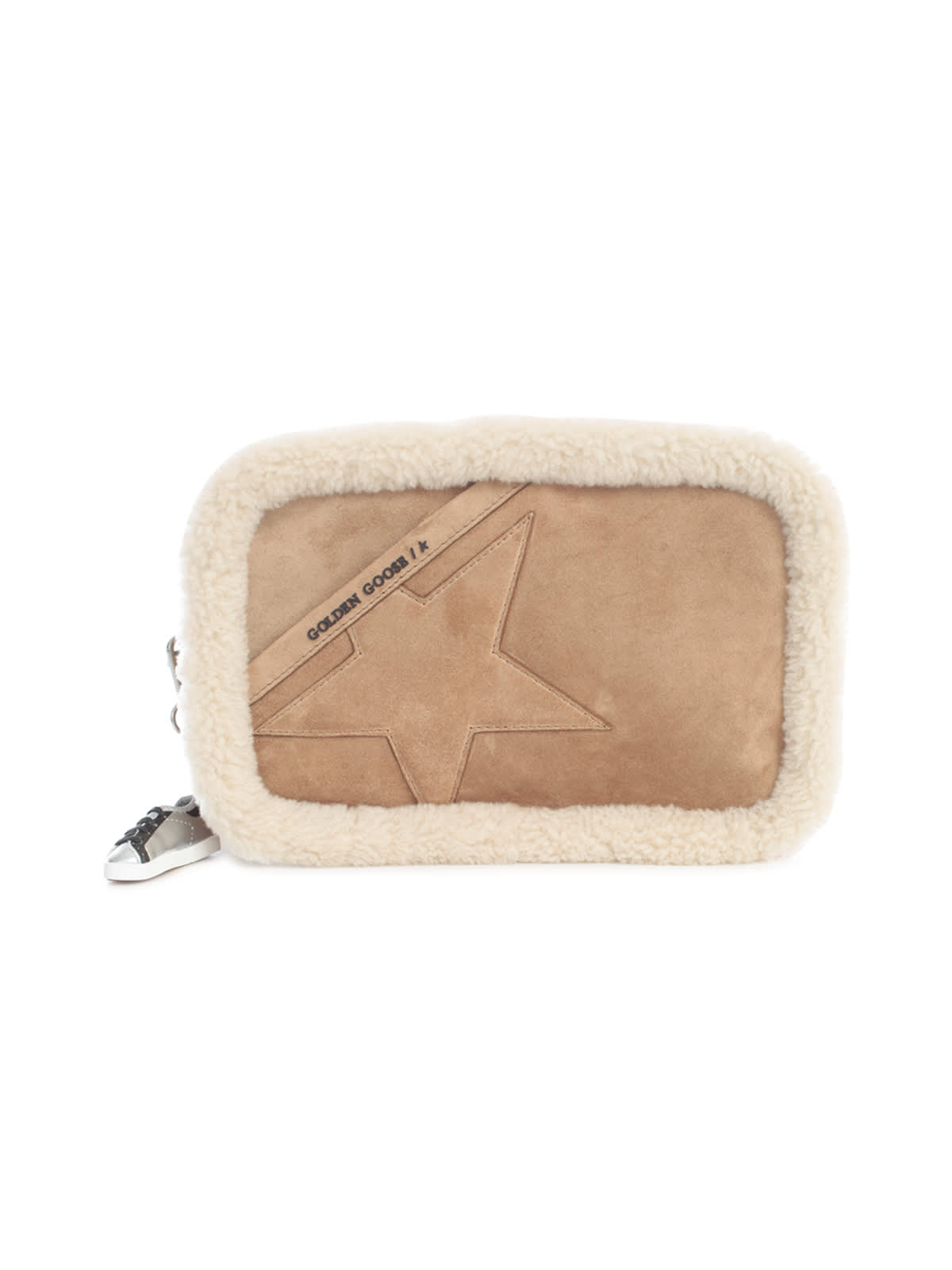 GOLDEN GOOSE STAR BAG FUR PROFILE SUEDE BODY SUEDE STAR AND SHOULDER STRAP
