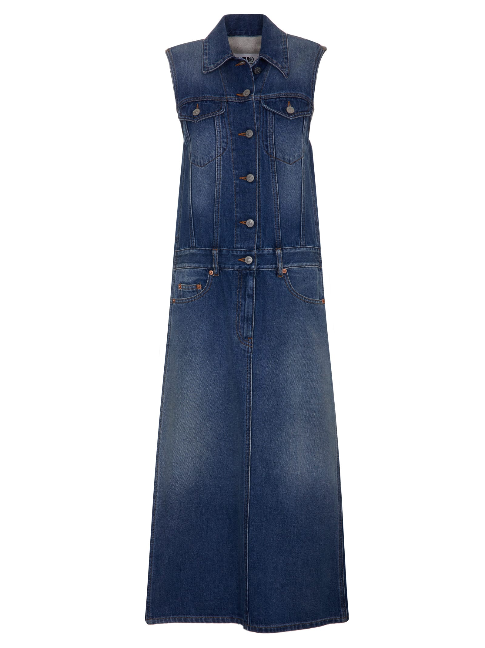 Buy MM6 Maison Margiela Denim Dress online, shop MM6 Maison Margiela with free shipping