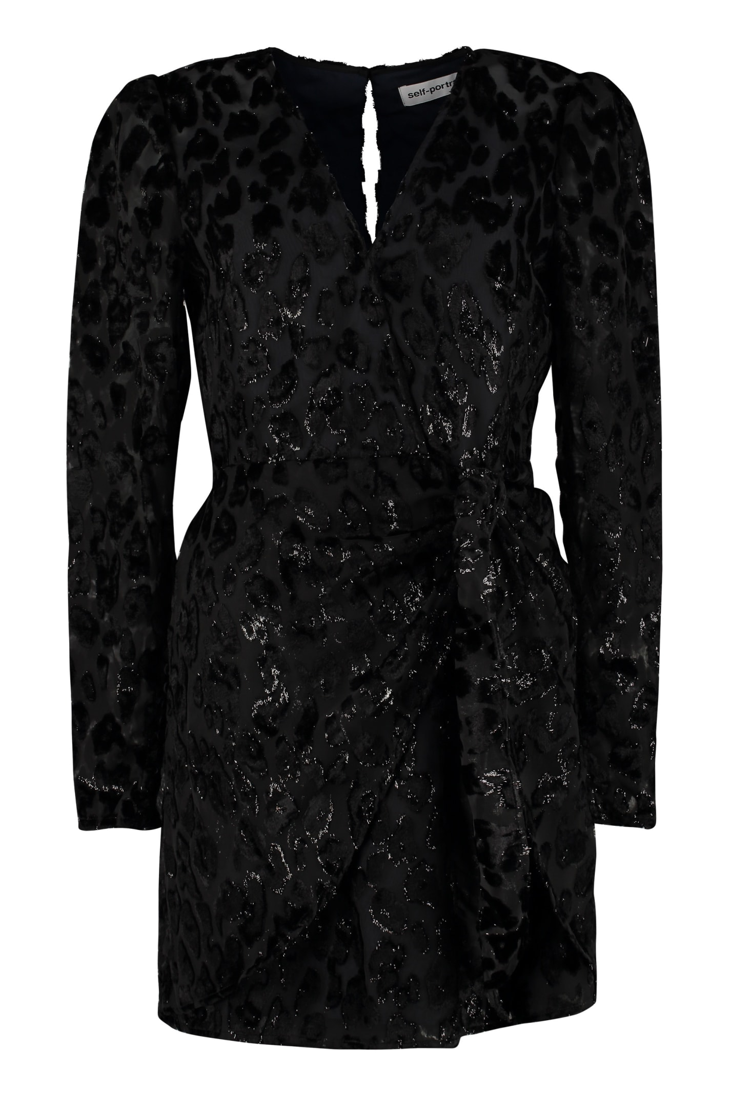 Buy self-portrait Leopard Mini Dress online, shop self-portrait with free shipping