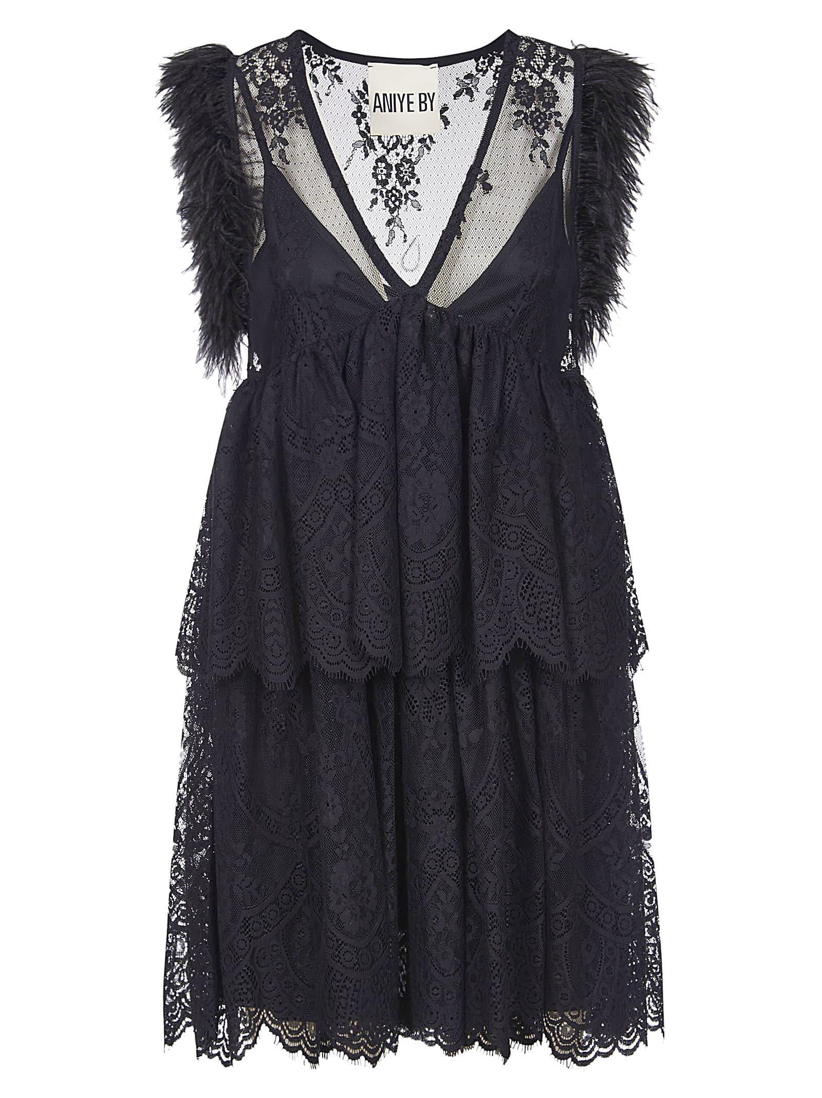 Sleeveless Fringed Dress